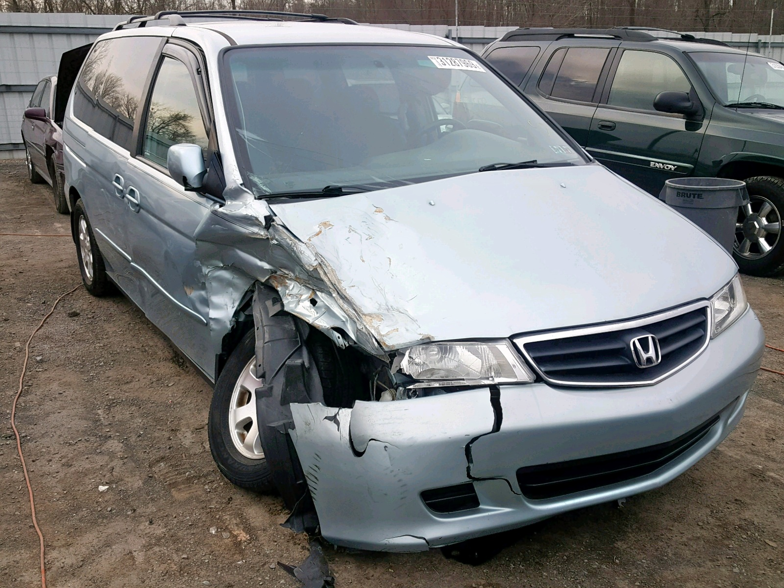 Salvage 2002 Honda ODYSSEY EX for sale