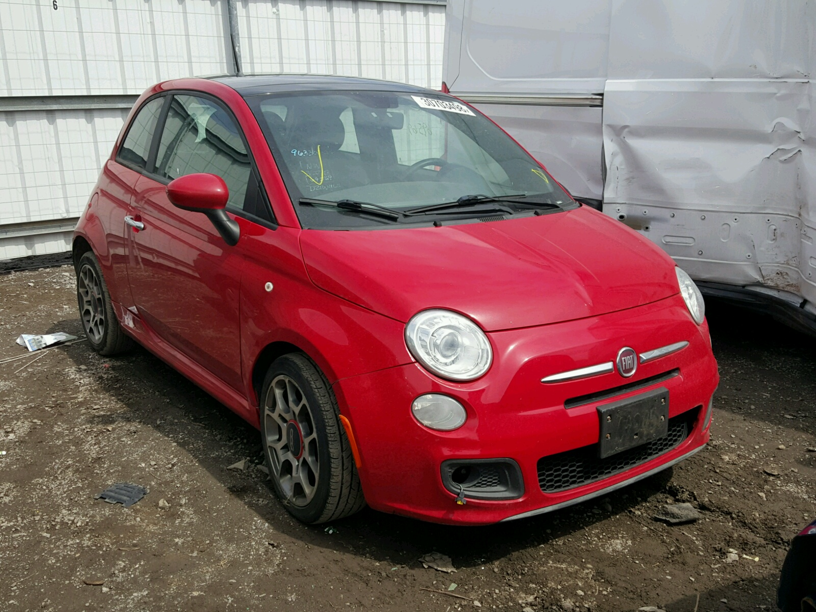 3c3cffbr3ct229424 2012 Red Fiat 500 Sport On Sale In Md 1954 For 14l Left View