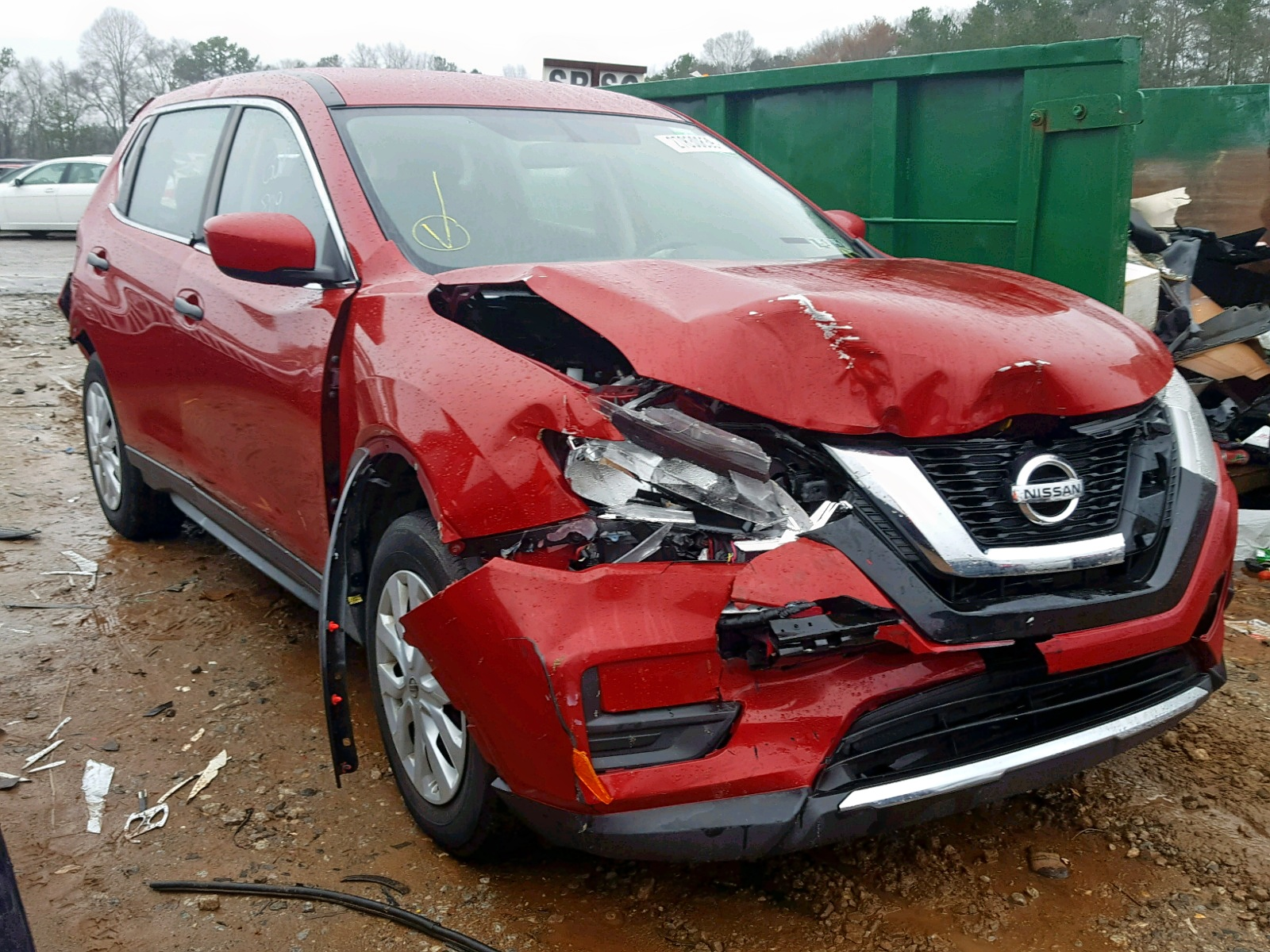 Salvage 2017 Nissan ROGUE S for sale