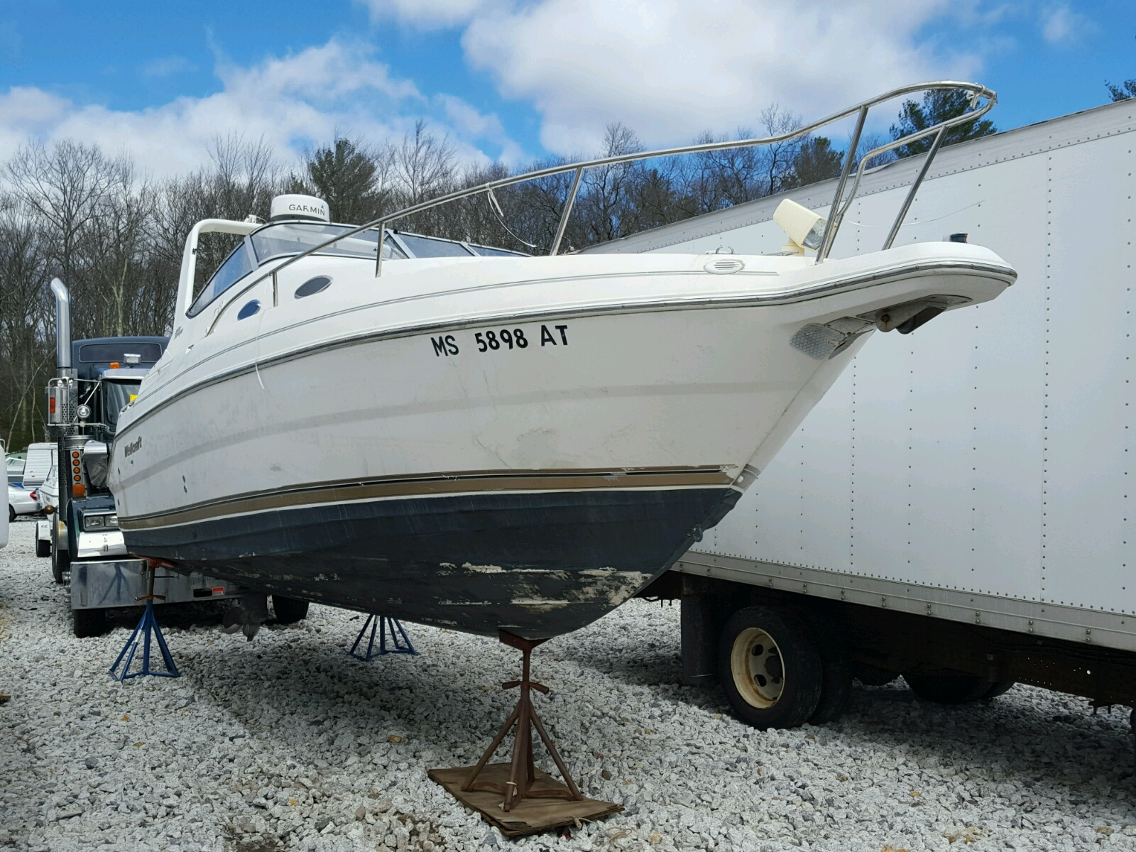 Salvage 2002 Wells Cargo BOAT for sale