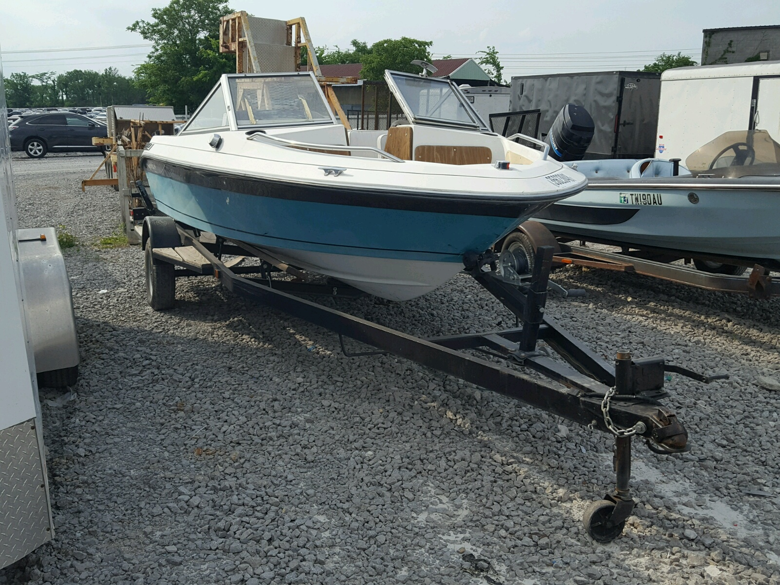 Salvage 1990 Dynasty MARINE TRAILER for sale