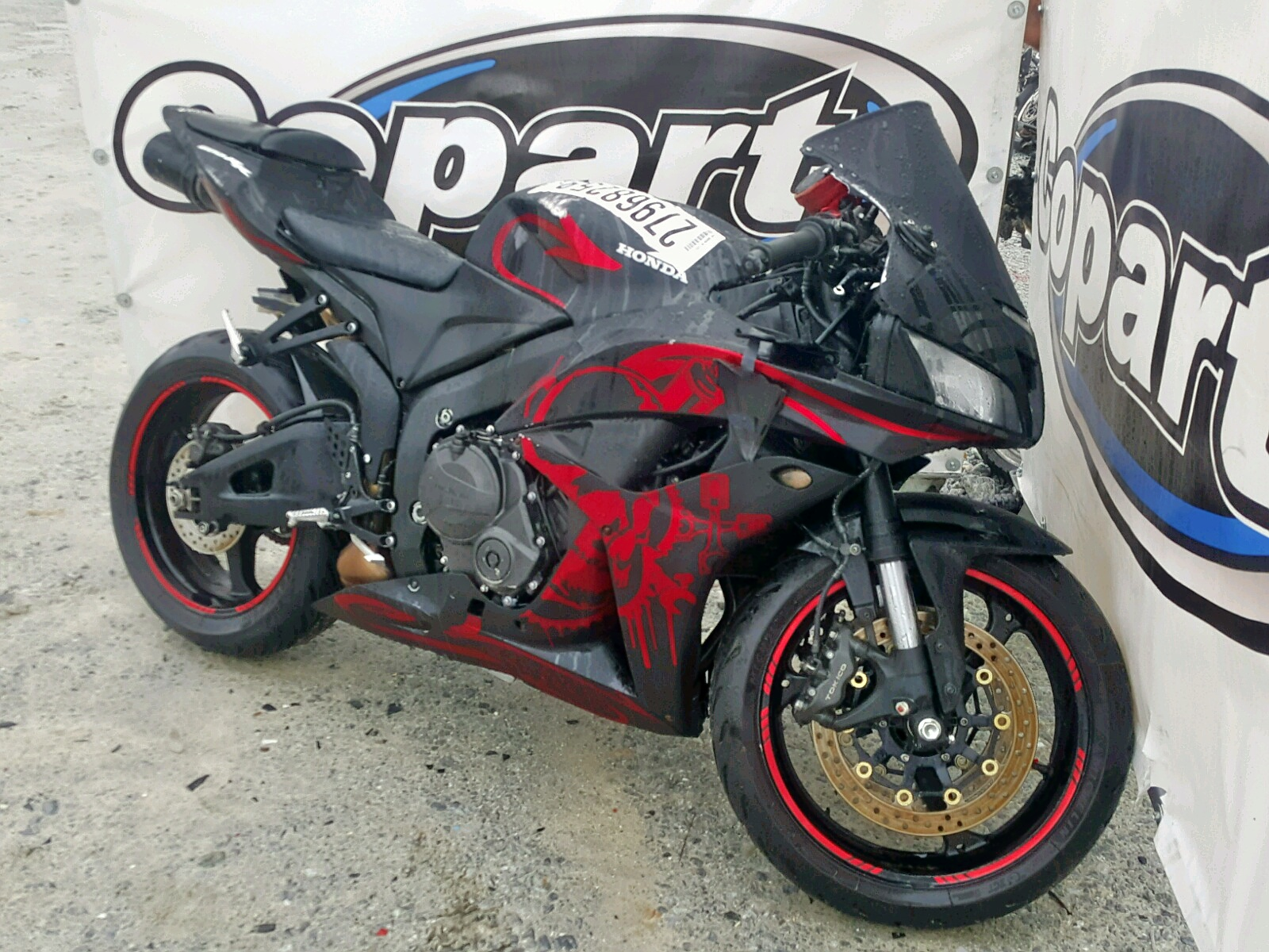 Salvage 2008 Honda CBR600 RR for sale