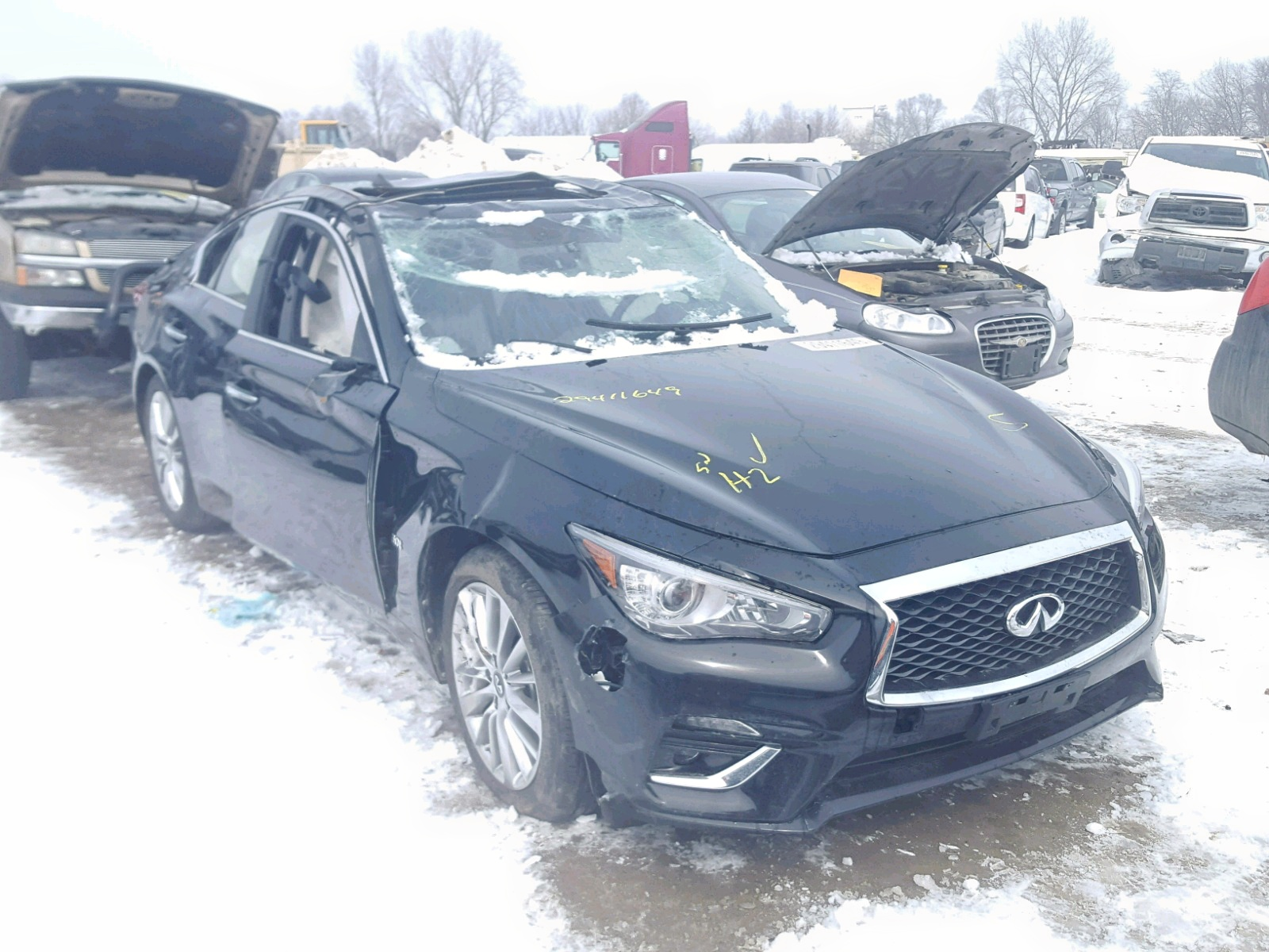 Salvage 2018 Infiniti Q50 LUXE for sale