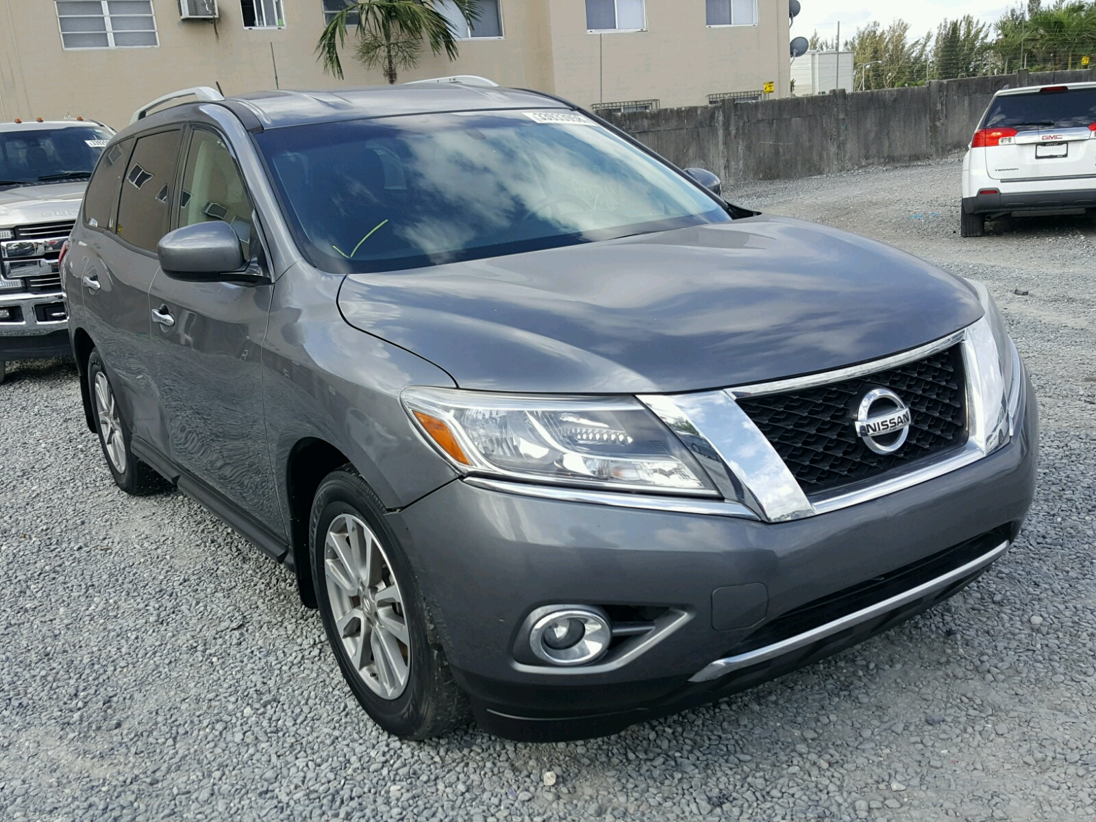 2015 nissan pathfinder for sale from copart lot 33933958. Black Bedroom Furniture Sets. Home Design Ideas