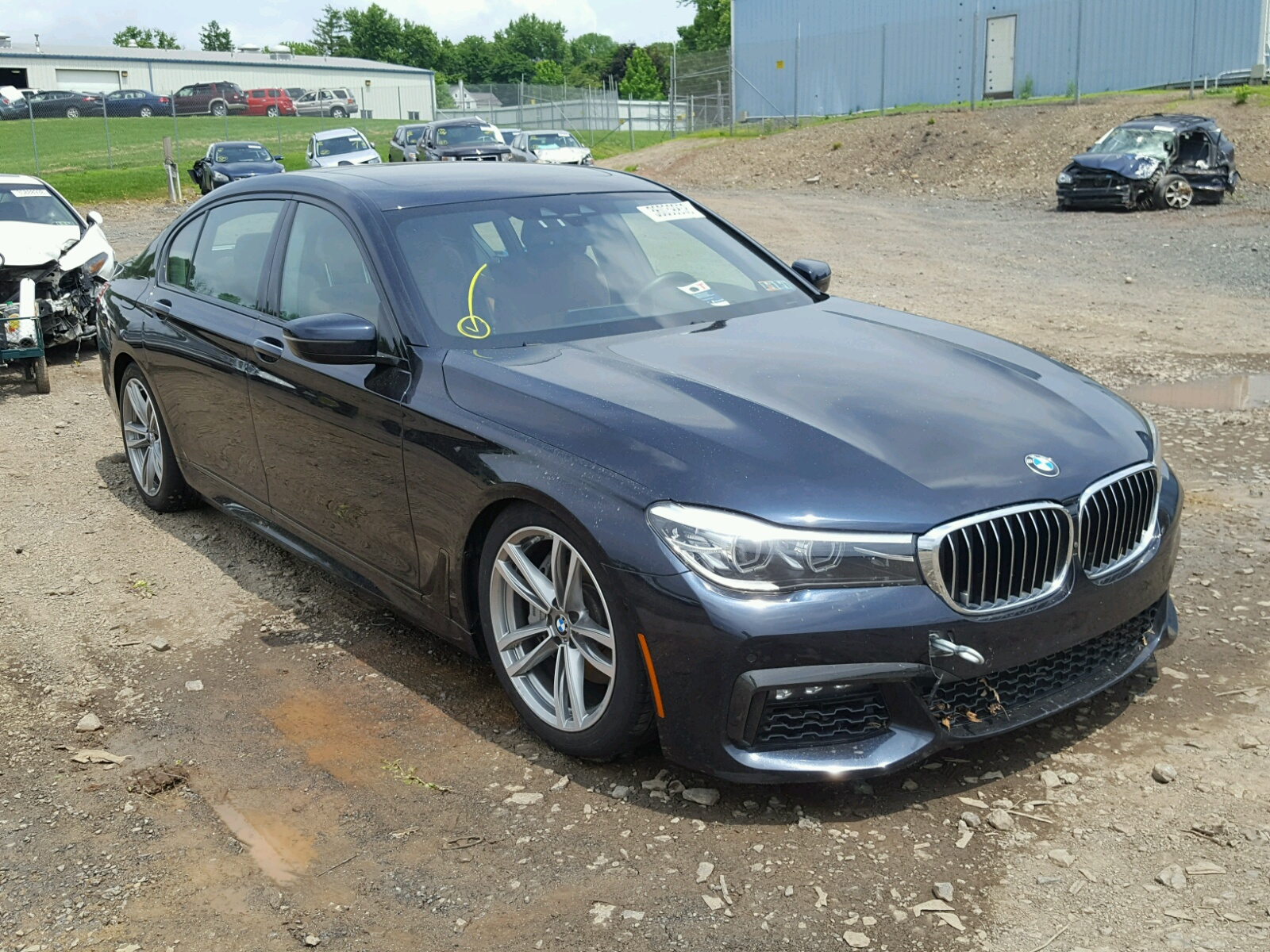 Salvage 2017 BMW 740 XI for sale