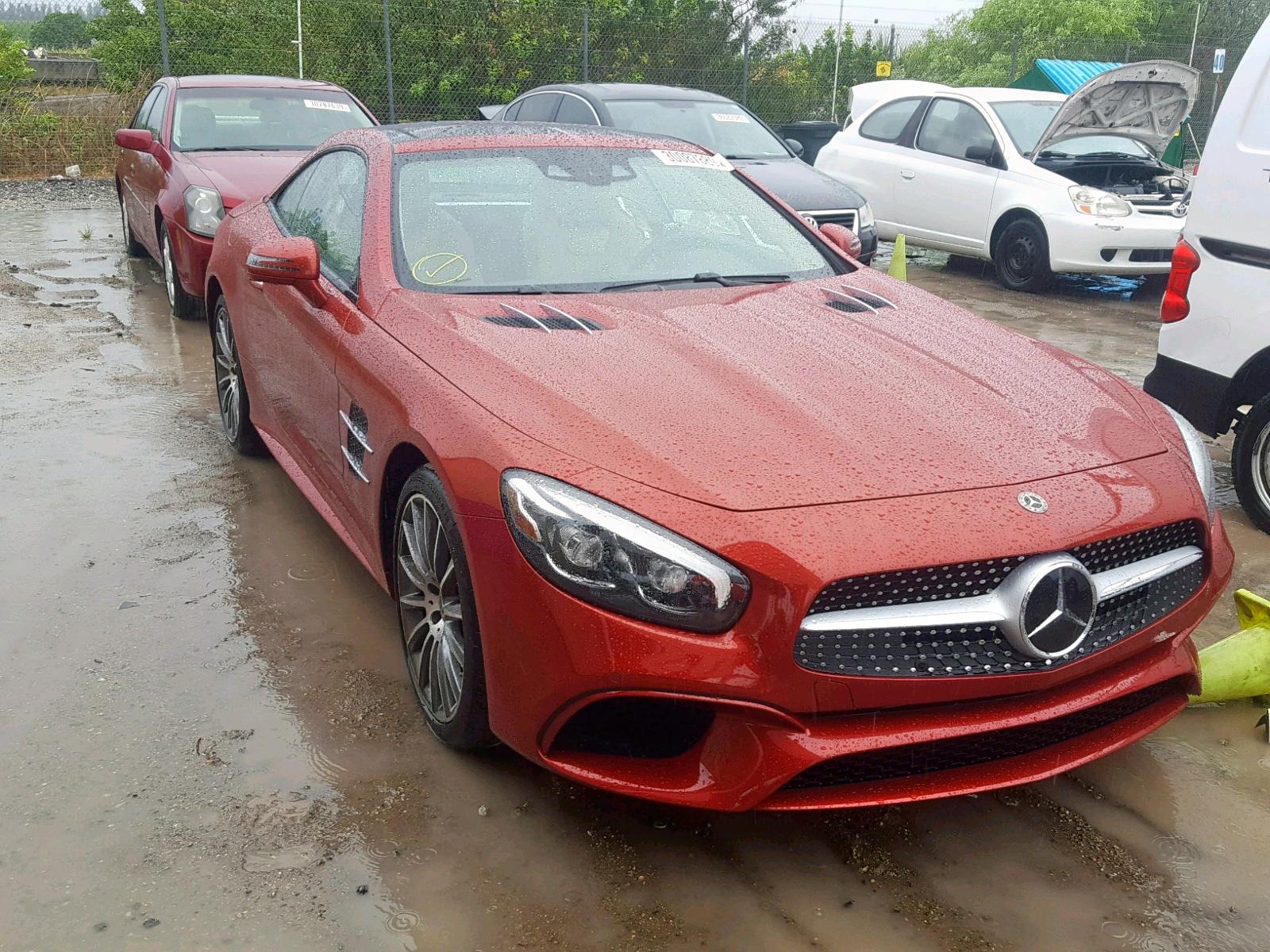 Salvage 2018 Mercedes-Benz SL 550 for sale