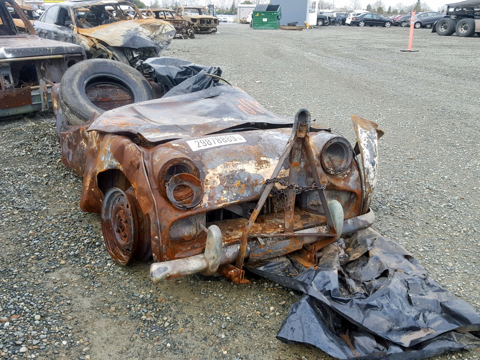 Salvage 1960 Triumph TR3 for sale