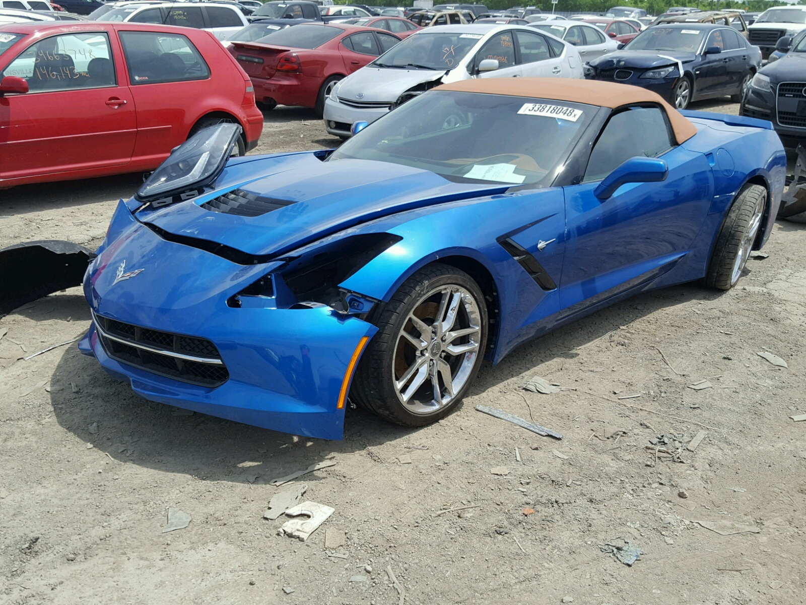 2014 chevrolet corvette s for sale at copart indianapolis in lot 33818048. Black Bedroom Furniture Sets. Home Design Ideas