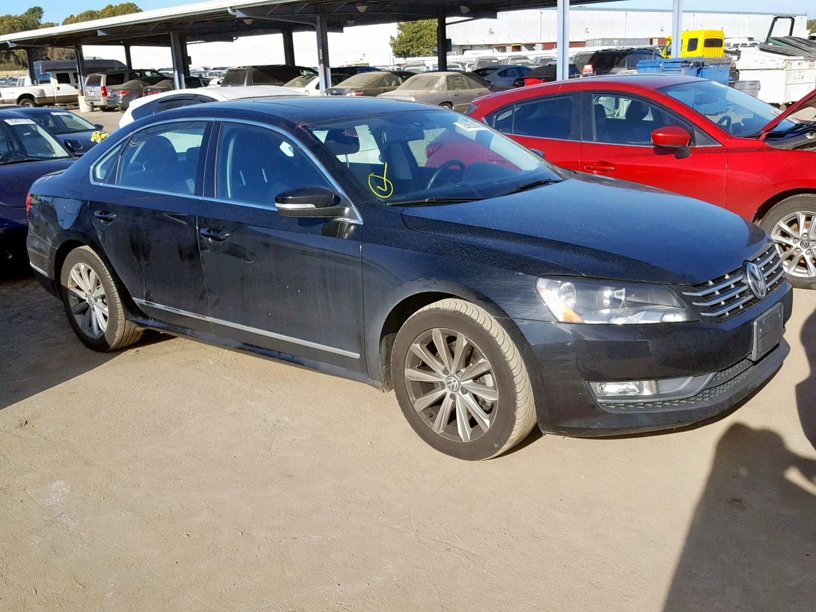 Salvage 2013 Volkswagen PASSAT SEL for sale