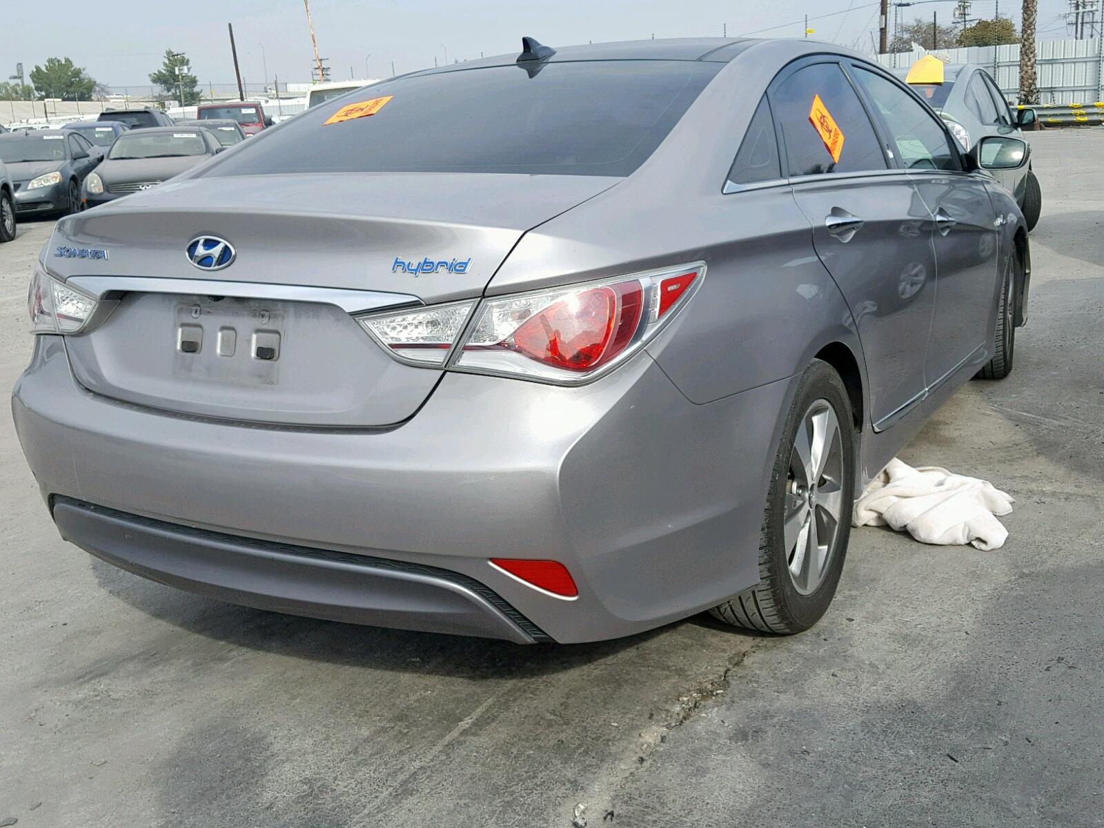2012 Hyundai Sonata Hyb 2.4L rear view