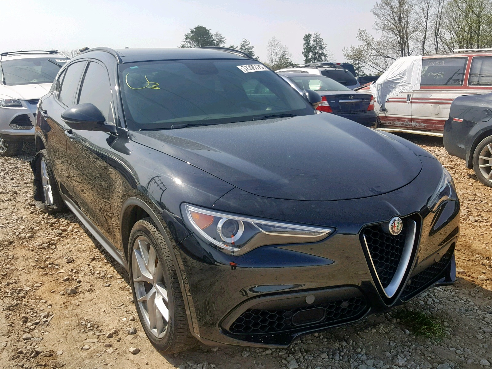 Salvage 2018 Alfa Romeo STELVIO TI for sale