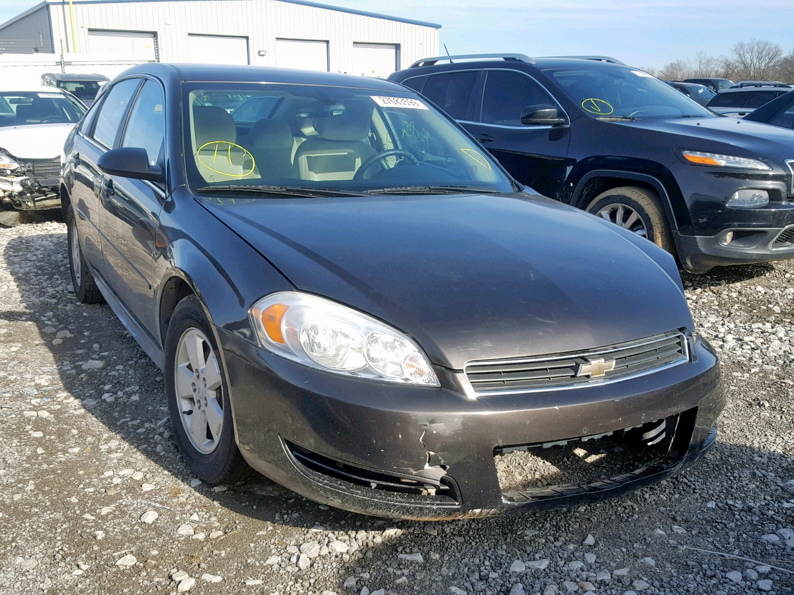 Salvage 2009 Chevrolet IMPALA 1LT for sale