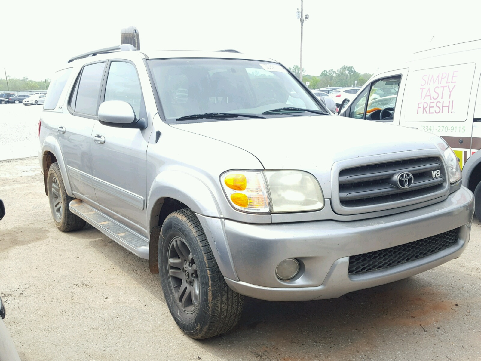 Auto Auction Ended On Vin 5tdzt38a74s226052 2004 Toyota Sequoia In Wheels Sr 47l