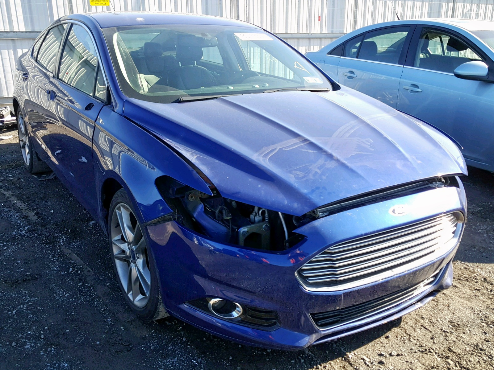 Salvage 2014 Ford FUSION TITANIUM for sale