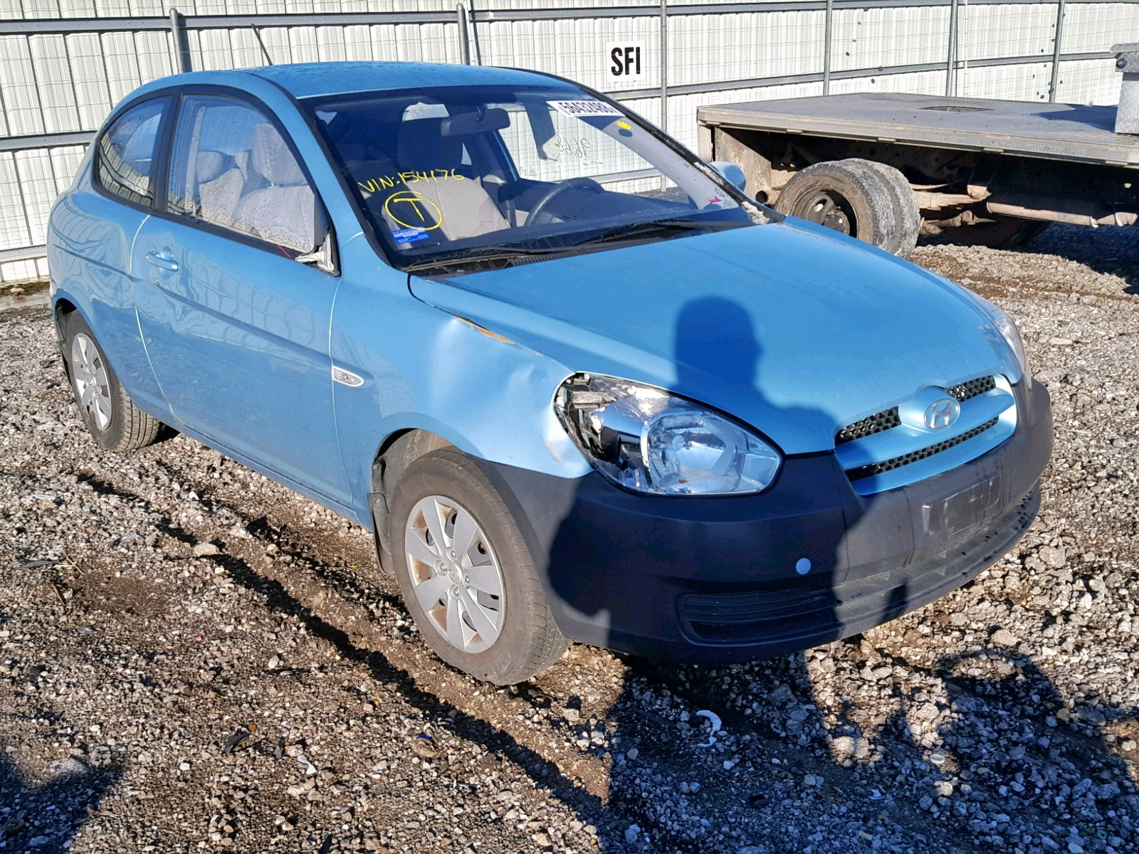 Salvage 2010 Hyundai ACCENT BLU for sale