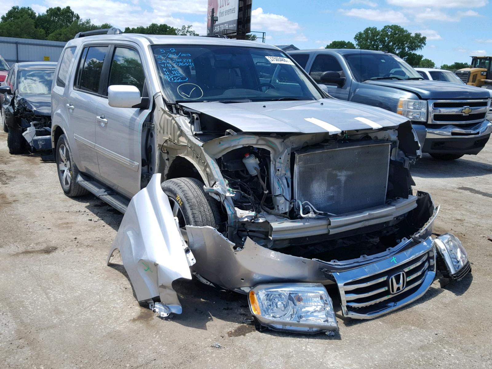 2014 Honda Pilot Touring for sale at Copart Wichita KS Lot
