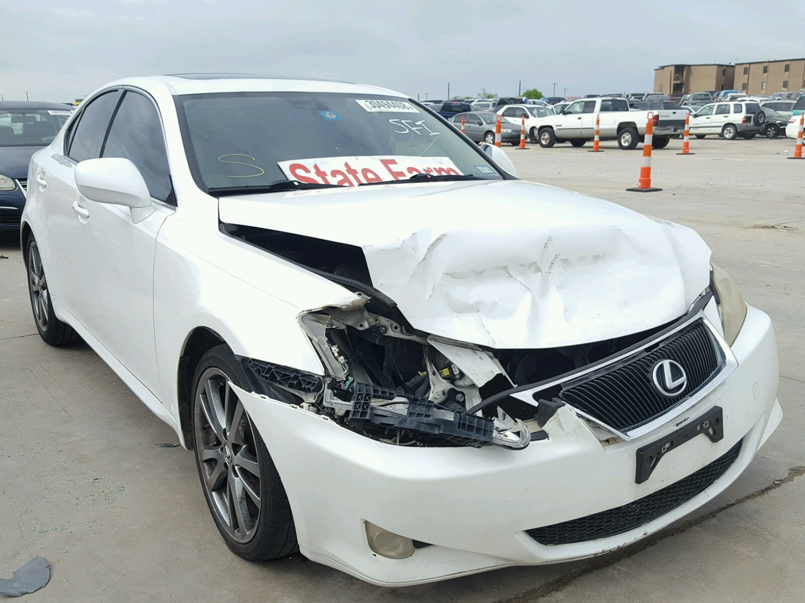 Auto Auction Ended on VIN JTHBF1D22F 2015 LEXUS IS 250 in TX