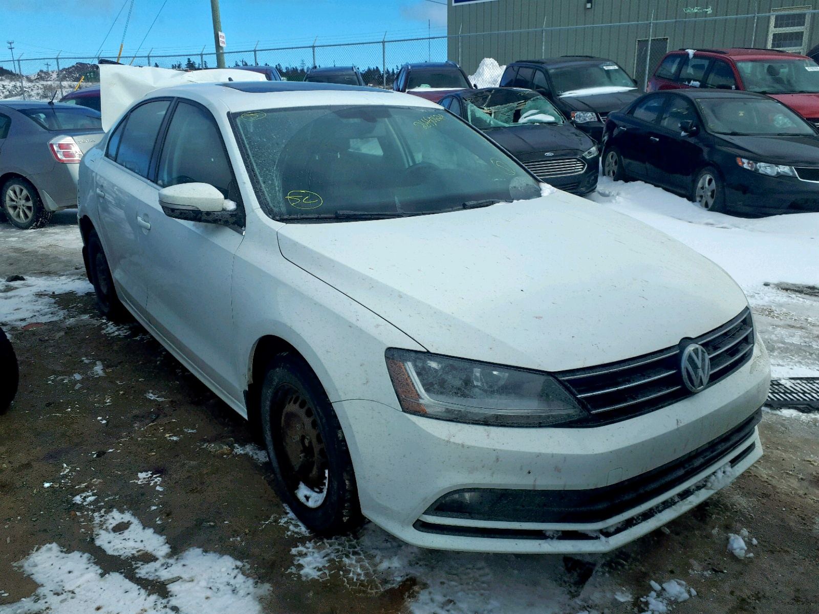 Salvage 2017 Volkswagen JETTA SEL for sale