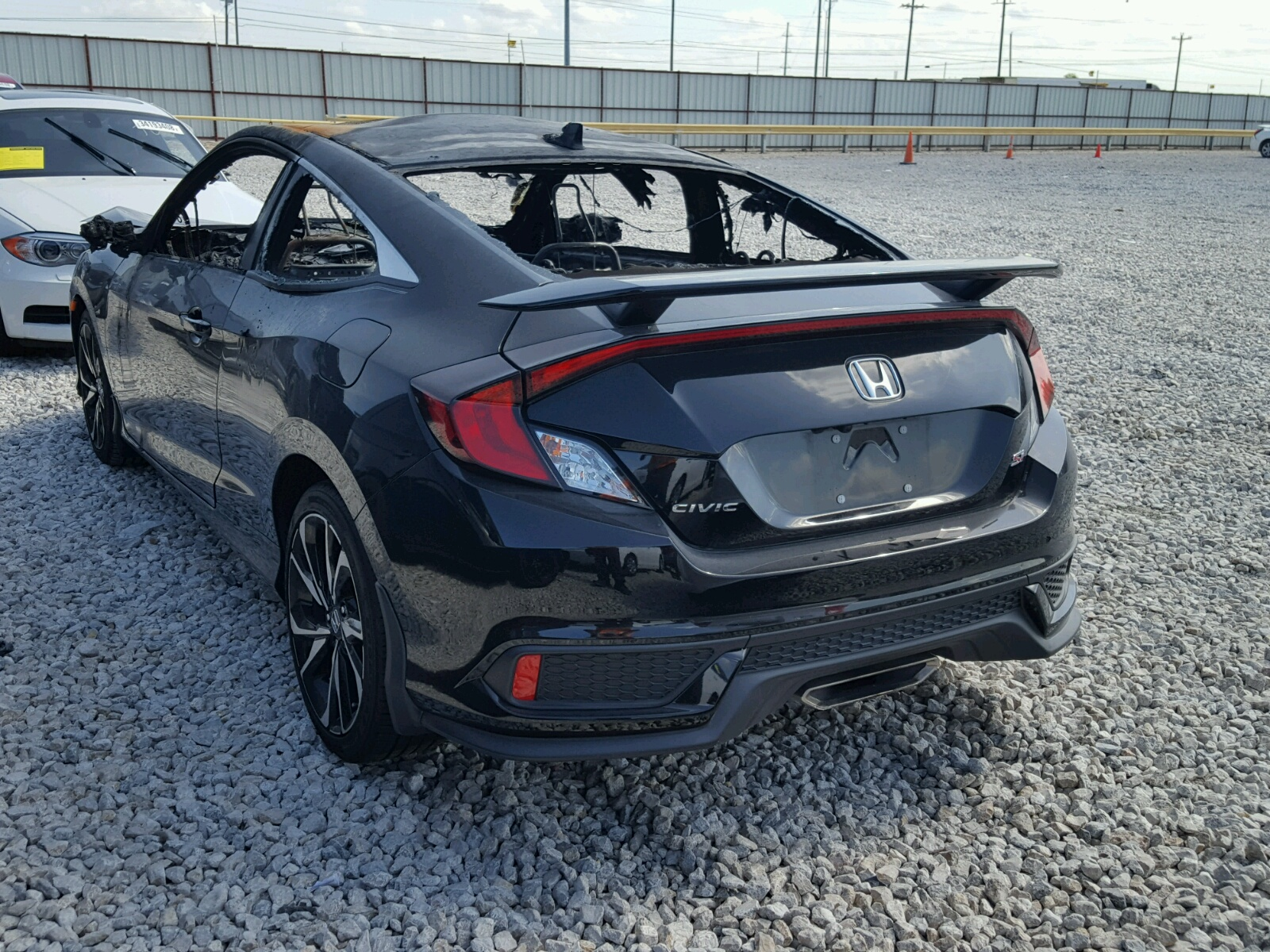 2hgfc3a58hh755046 2017 Black Honda Civic Si On Sale In Tx Ft 1970 15l Angle View