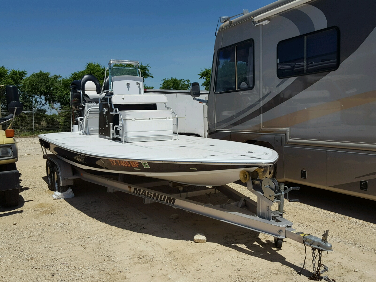 Salvage 2011 Newb MARINE TRAILER for sale