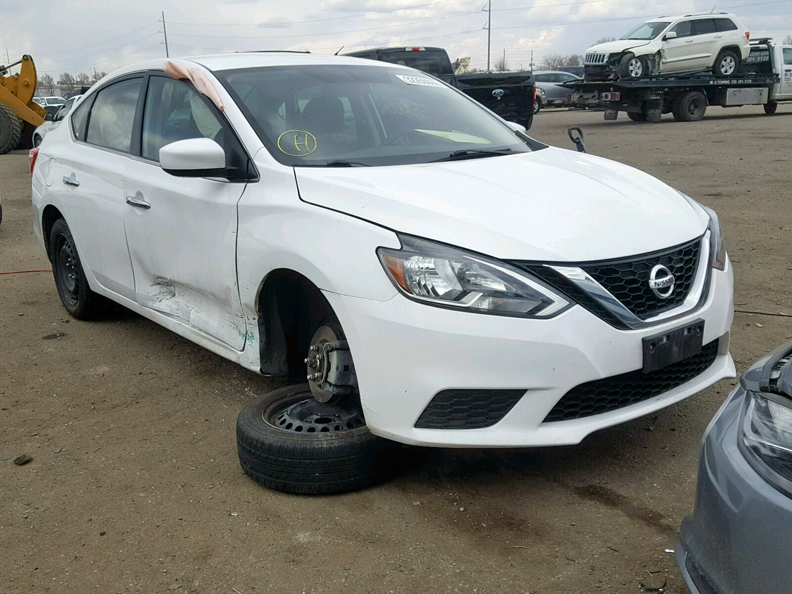Salvage 2017 Nissan SENTRA for sale