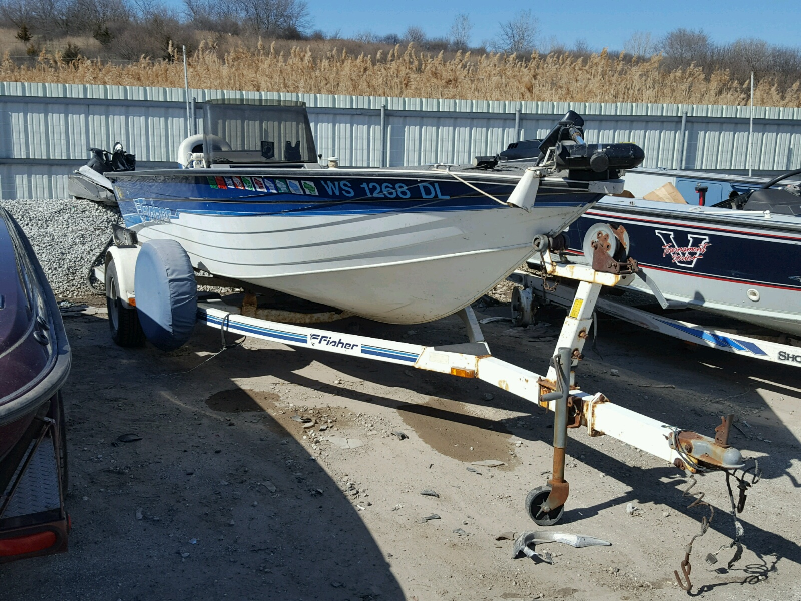 Salvage 1993 Fishmaster FISHER OD1 for sale