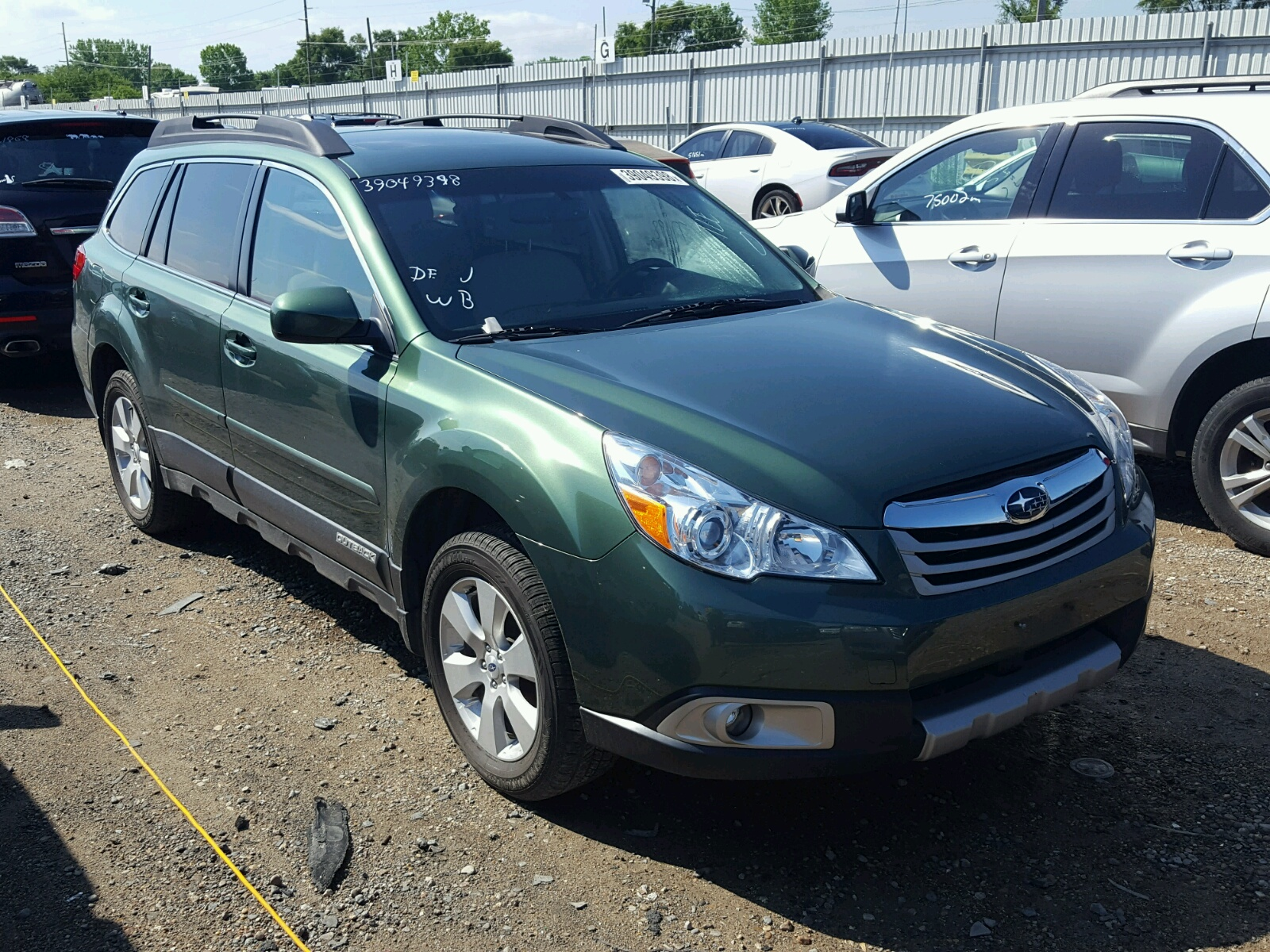 2012 Subaru Outback 2 for sale at Copart Des Moines IA Lot