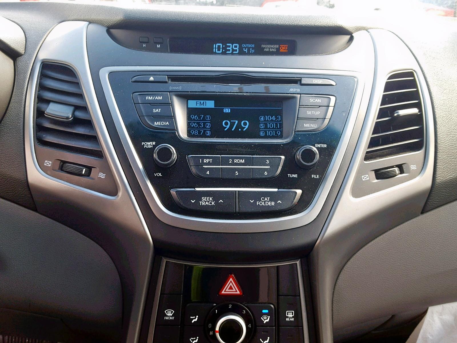 2015 Hyundai Elantra Se 1.8L engine view
