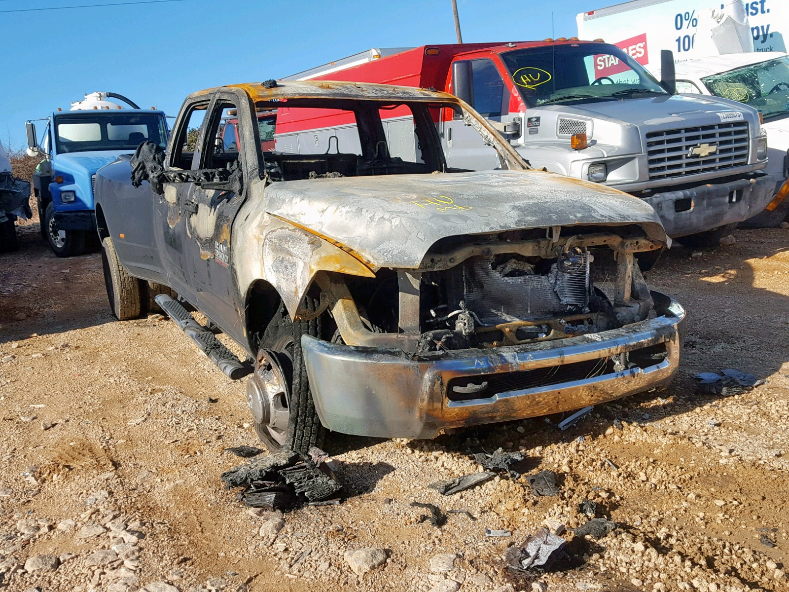 Salvage 2018 Dodge RAM 3500 ST for sale
