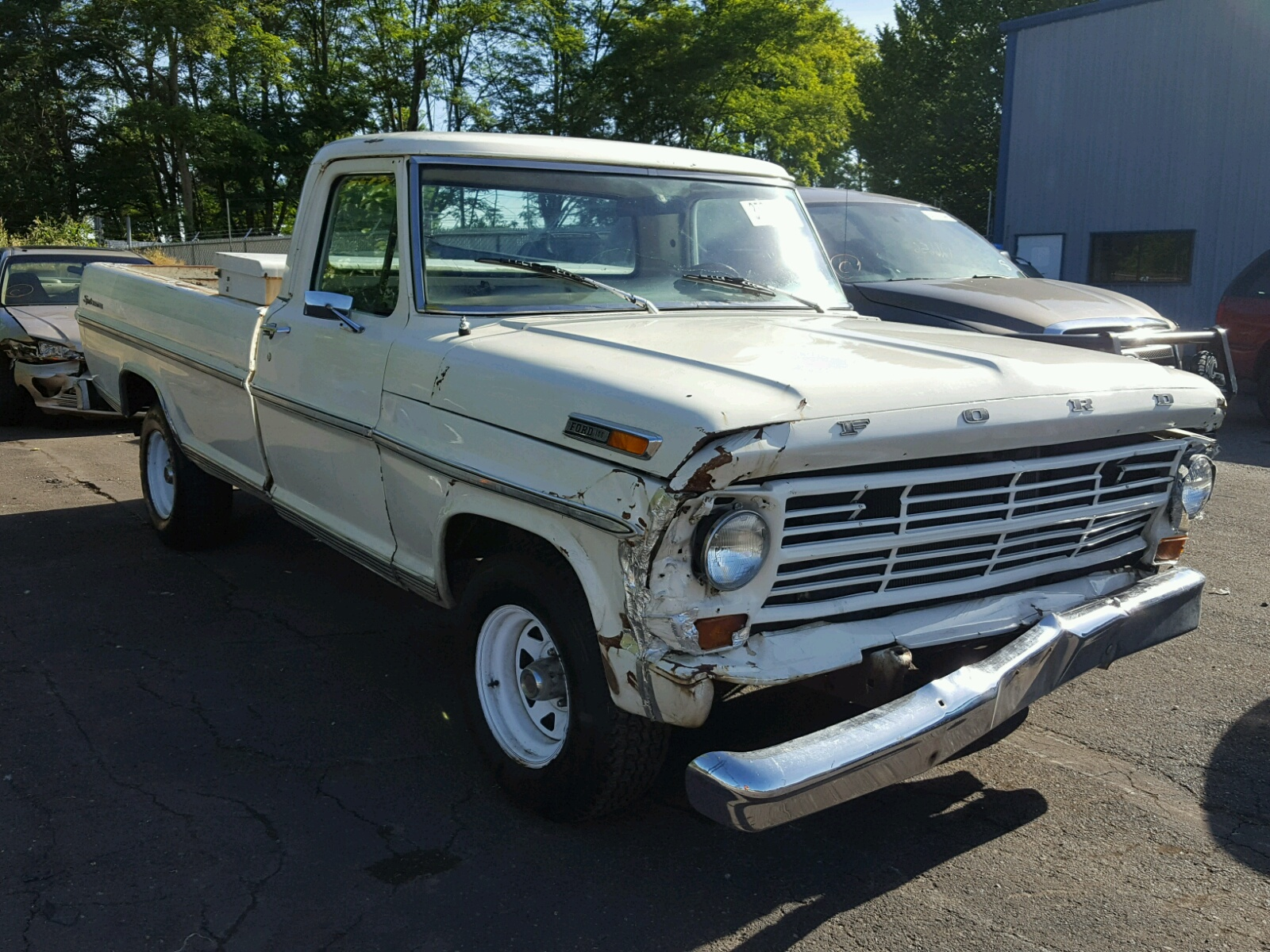 F10yrn70694 1972 White Ford F 100 On Sale In Or Portland North 1955 F100 Value Left View