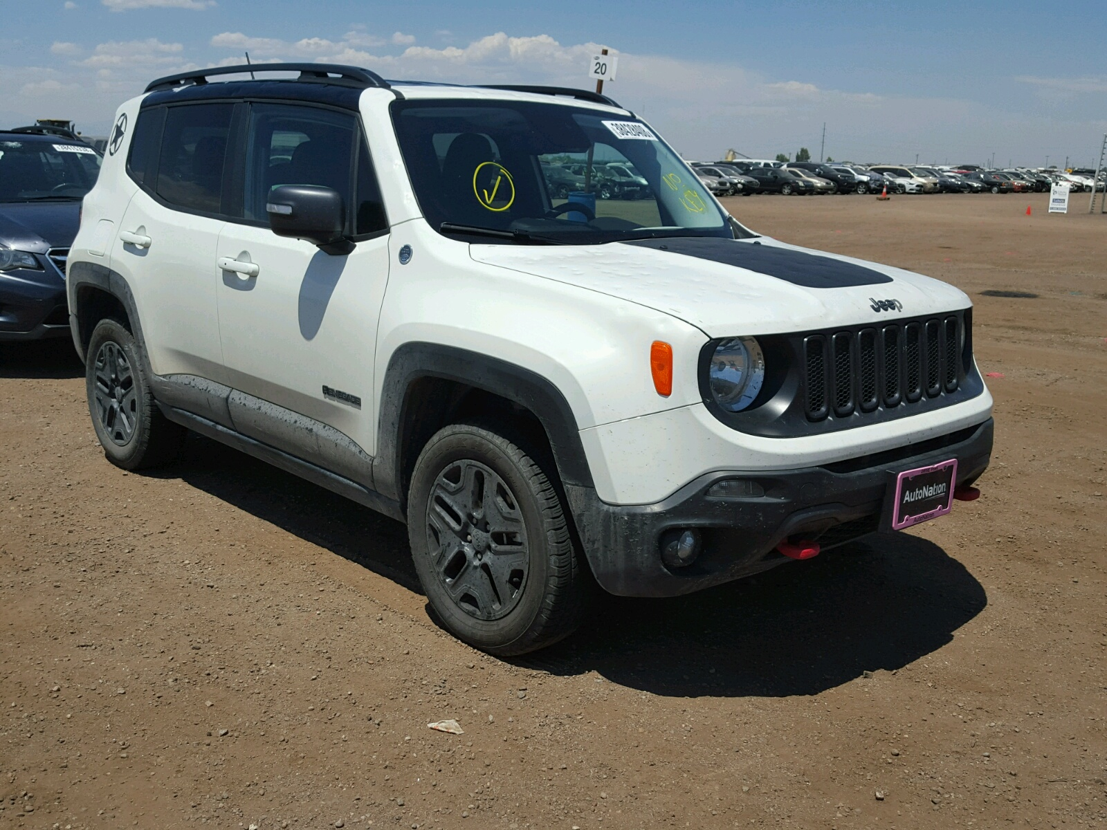 Salvage 2017 Jeep RENEGADE T for sale