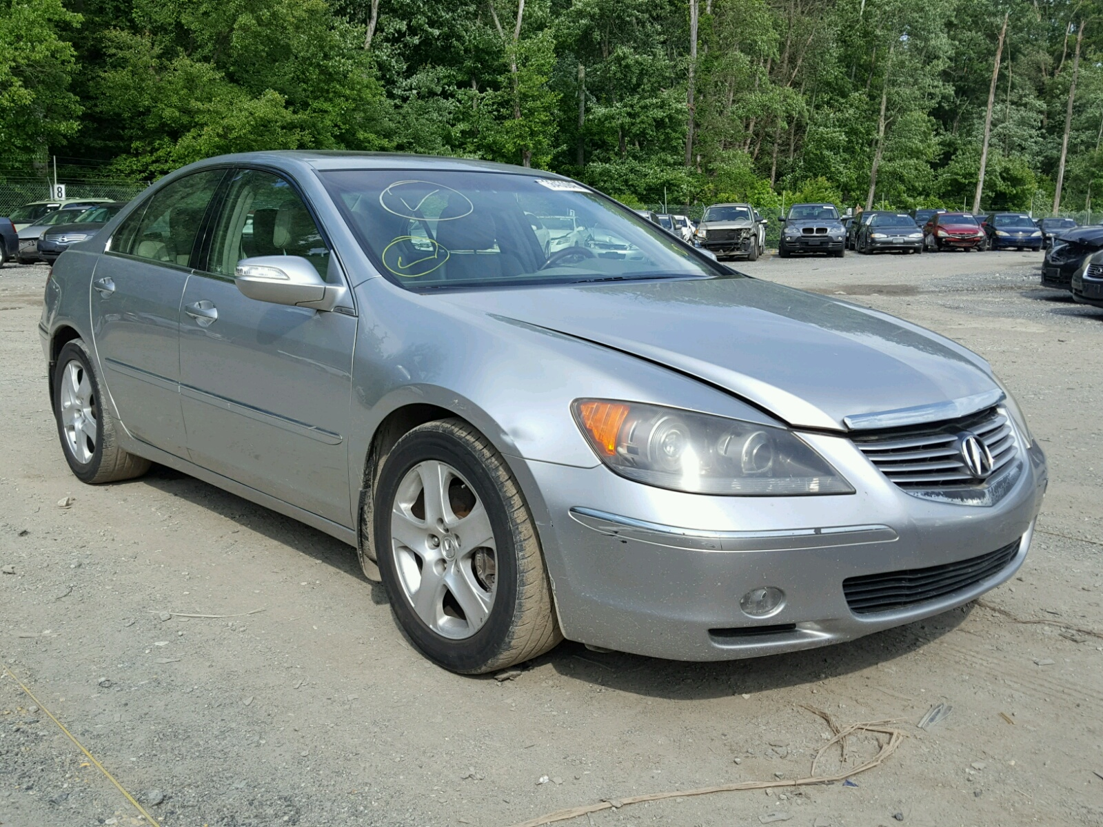 gray of for sale lot cert acura carfinder in baltimore md rl auto online salvage auctions on en copart left damage view