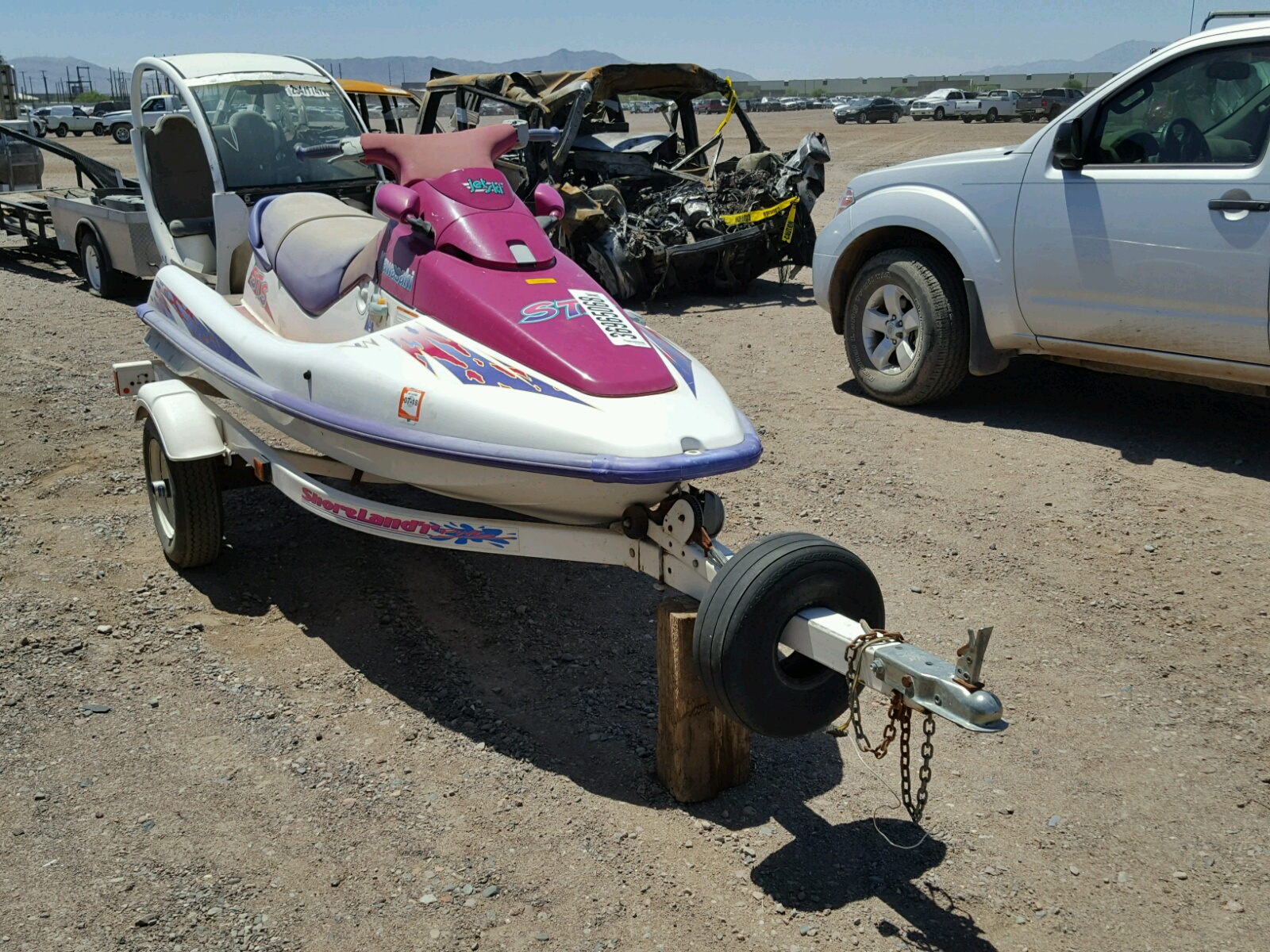 Salvage 1995 Kawasaki MARINE TRAILER for sale