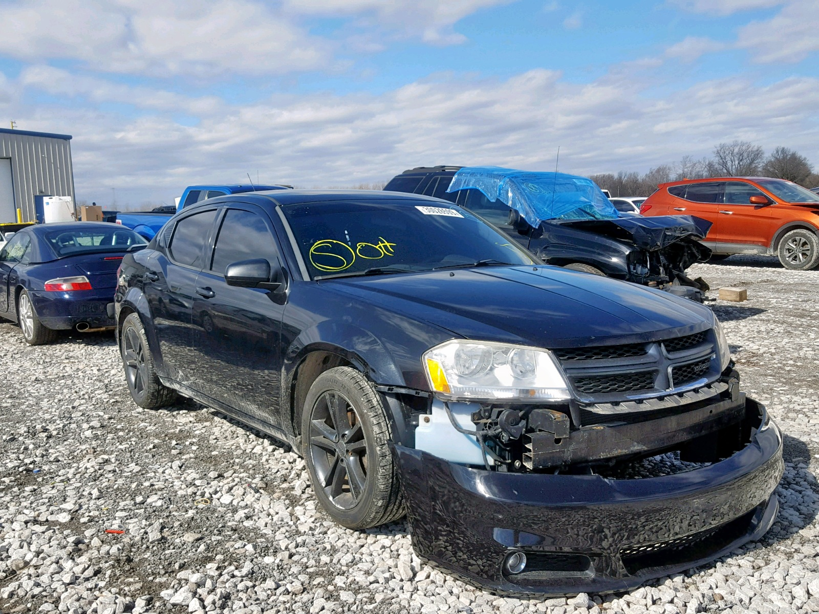 Salvage 2011 Dodge AVENGER MA for sale