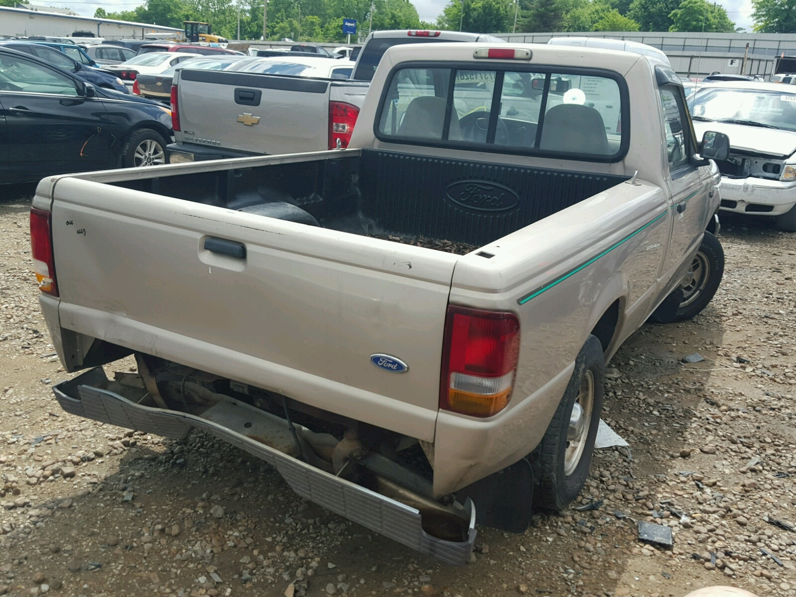 1ftcr10a7vpb52938 1997 Gold Ford Ranger On Sale In Mo St Louis 1955 F100 Pick Up 23l Rear View