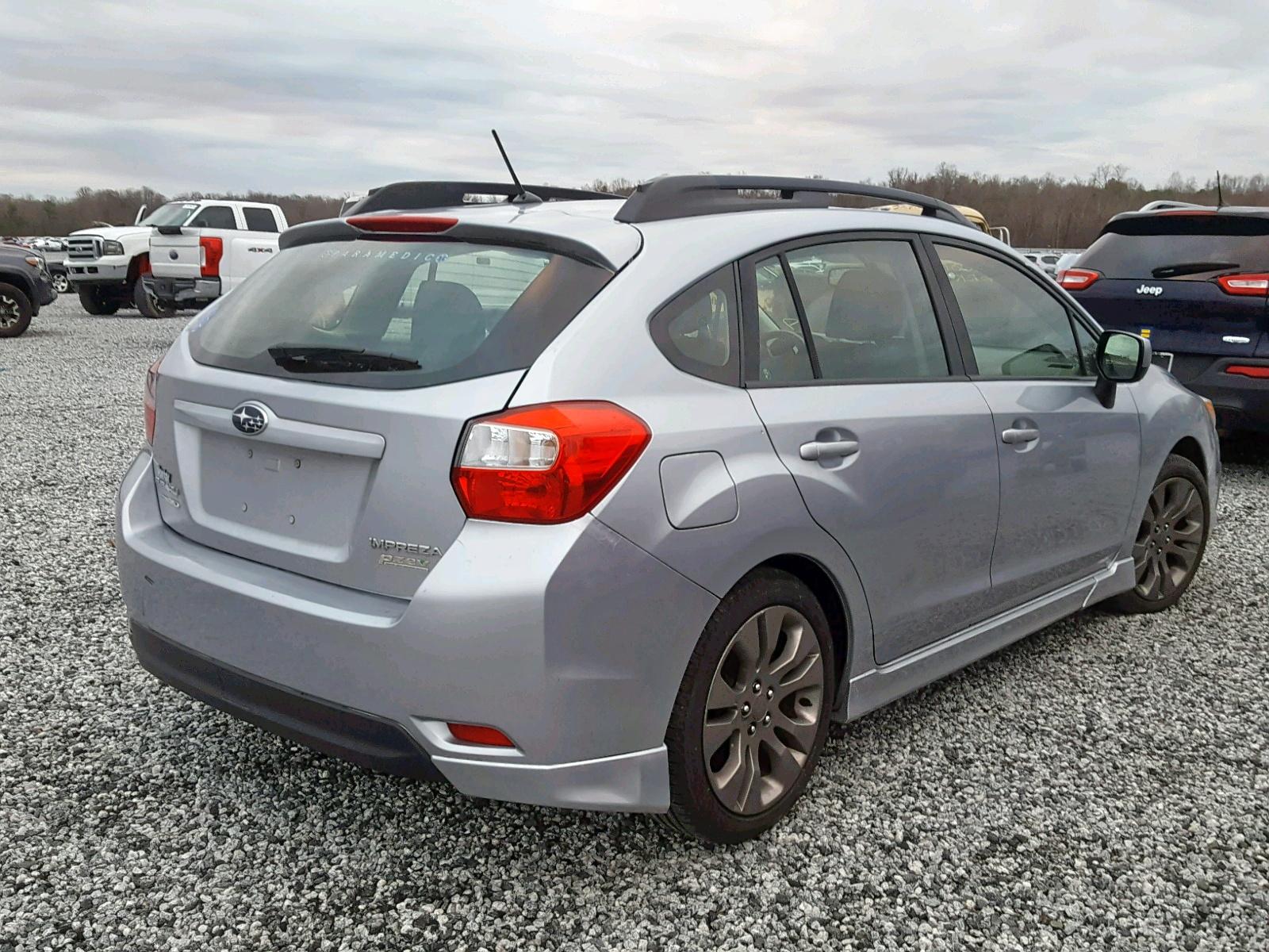JF1GPAL60DH827185 - 2013 Subaru Impreza Sp 2.0L rear view