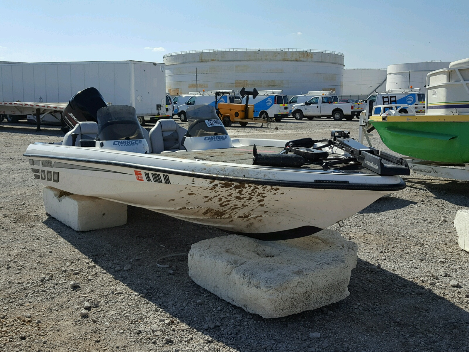 Salvage 2004 Char BOAT WITH TRAILER for sale