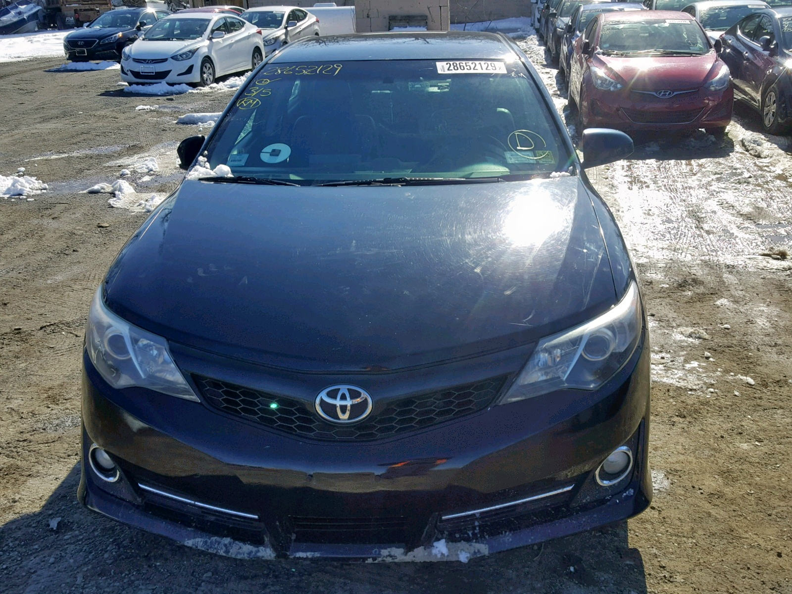 2014 Toyota Camry L 2.5L engine view