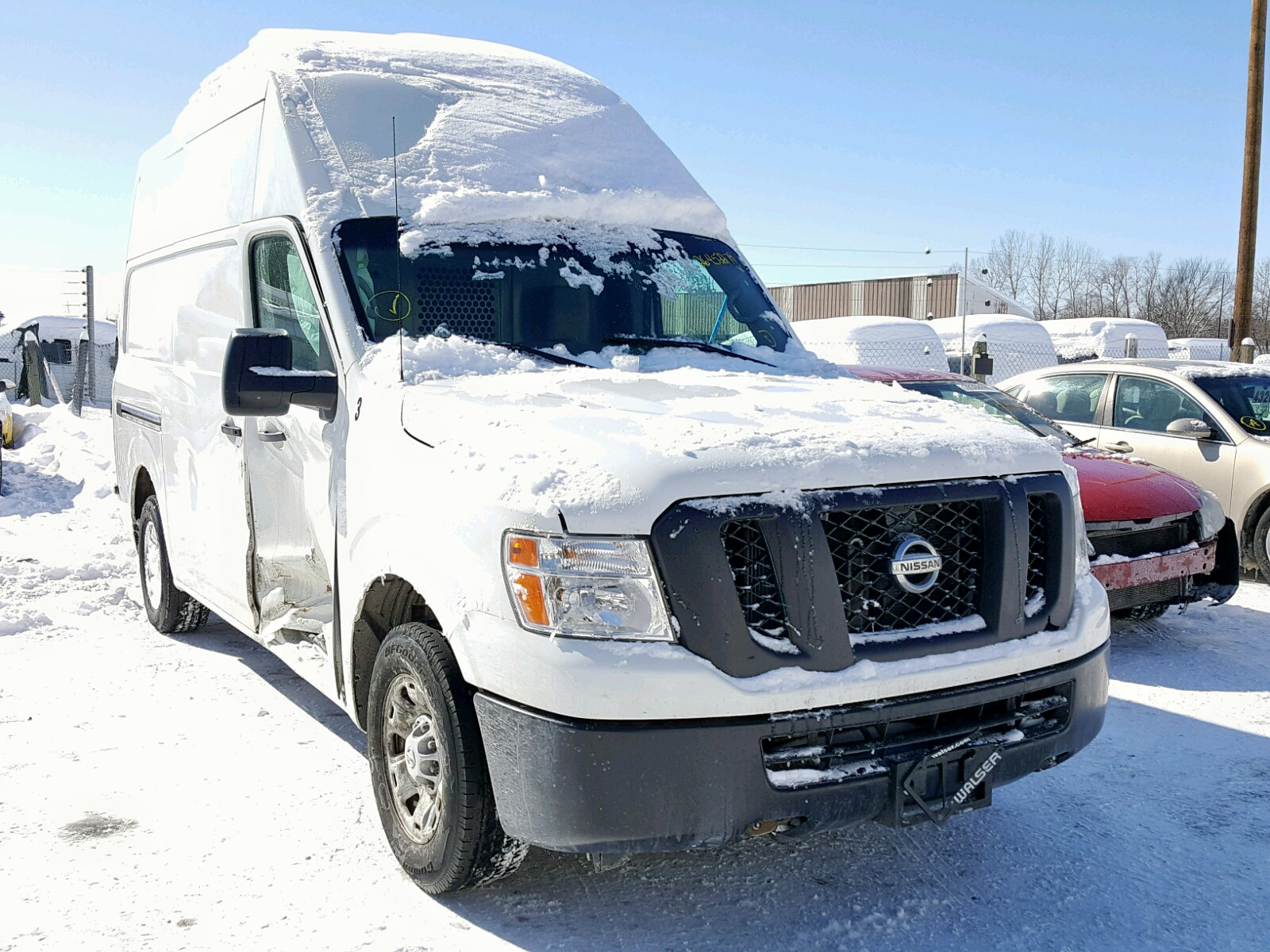 Salvage 2016 Nissan NV 2500 S for sale