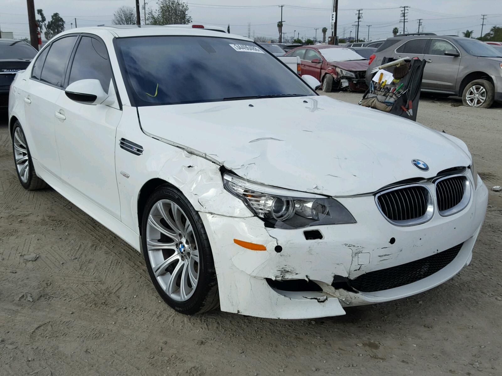 wbsnb9c58ac043442 2010 white bmw m5 on sale in ca los. Black Bedroom Furniture Sets. Home Design Ideas
