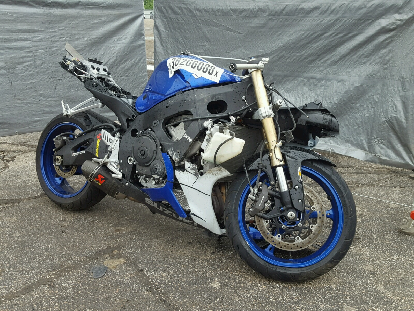 2007 Suzuki GSX-R600 for sale at Copart Elgin, IL Lot# 38266088
