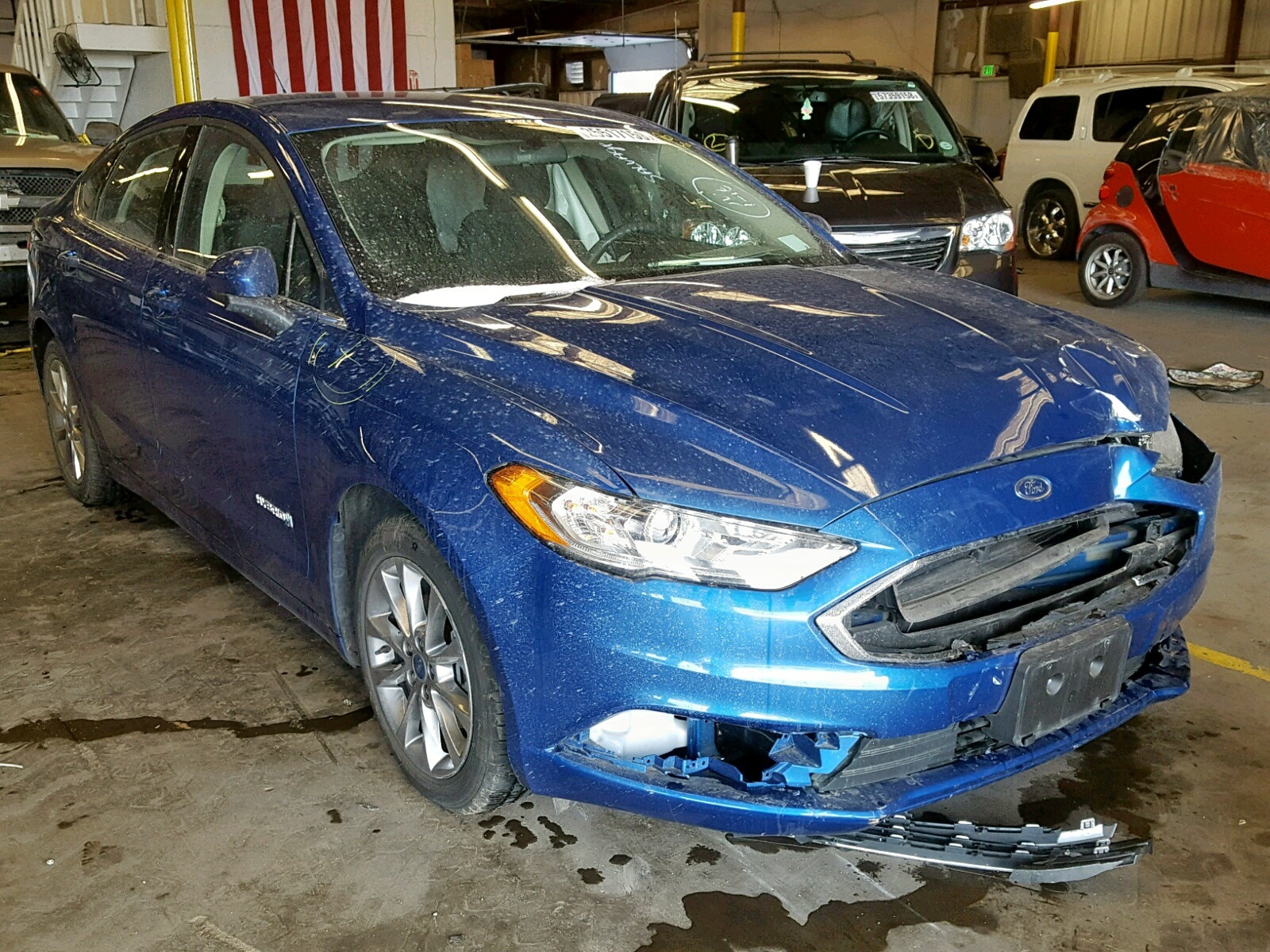 Salvage 2017 Ford FUSION SE for sale