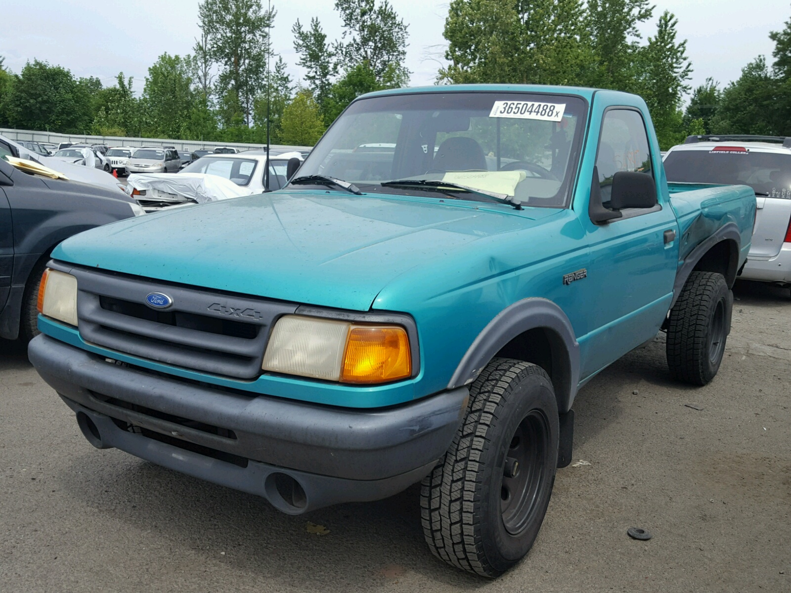 Auto Auction Ended On Vin 1ftcr11x7ppa31834 1993 Ford Ranger In Or Power Window Motor For 40l Right View
