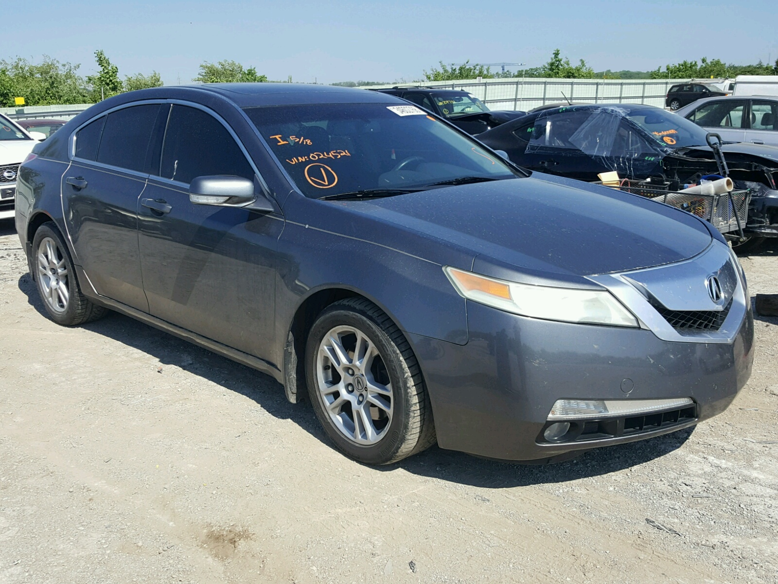 2009 Acura TL for sale at Copart Kansas City KS Lot