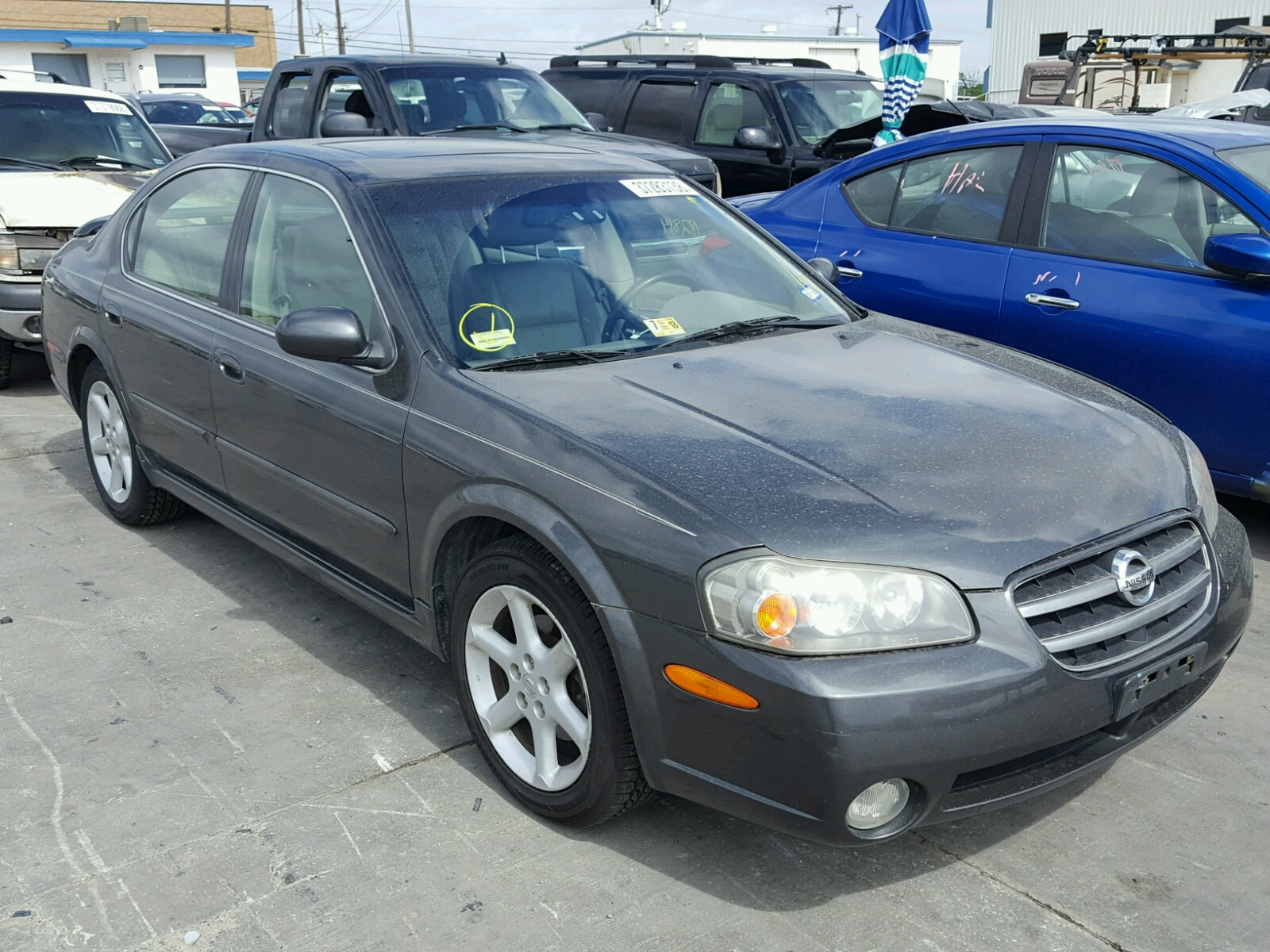 Salvage 2003 Nissan MAXIMA GLE for sale