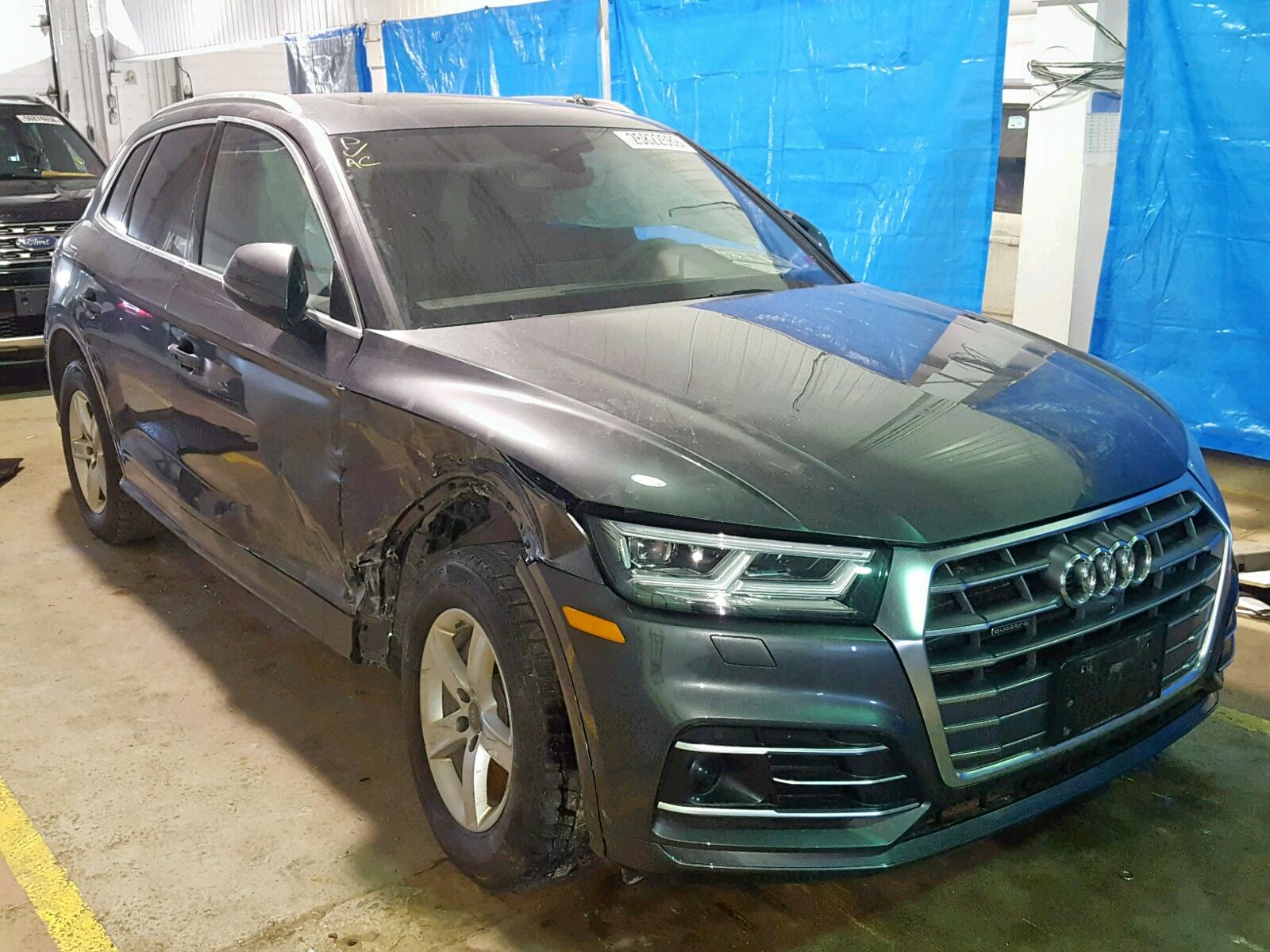 Salvage 2018 Audi Q5 TECHNIK for sale