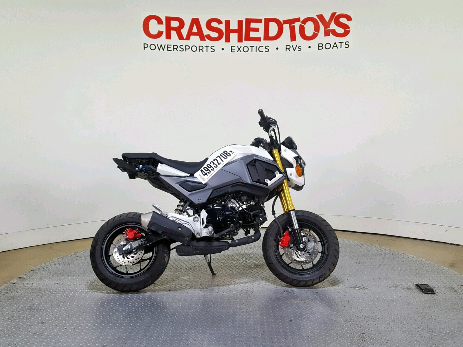 Salvage 2018 Honda GROM for sale