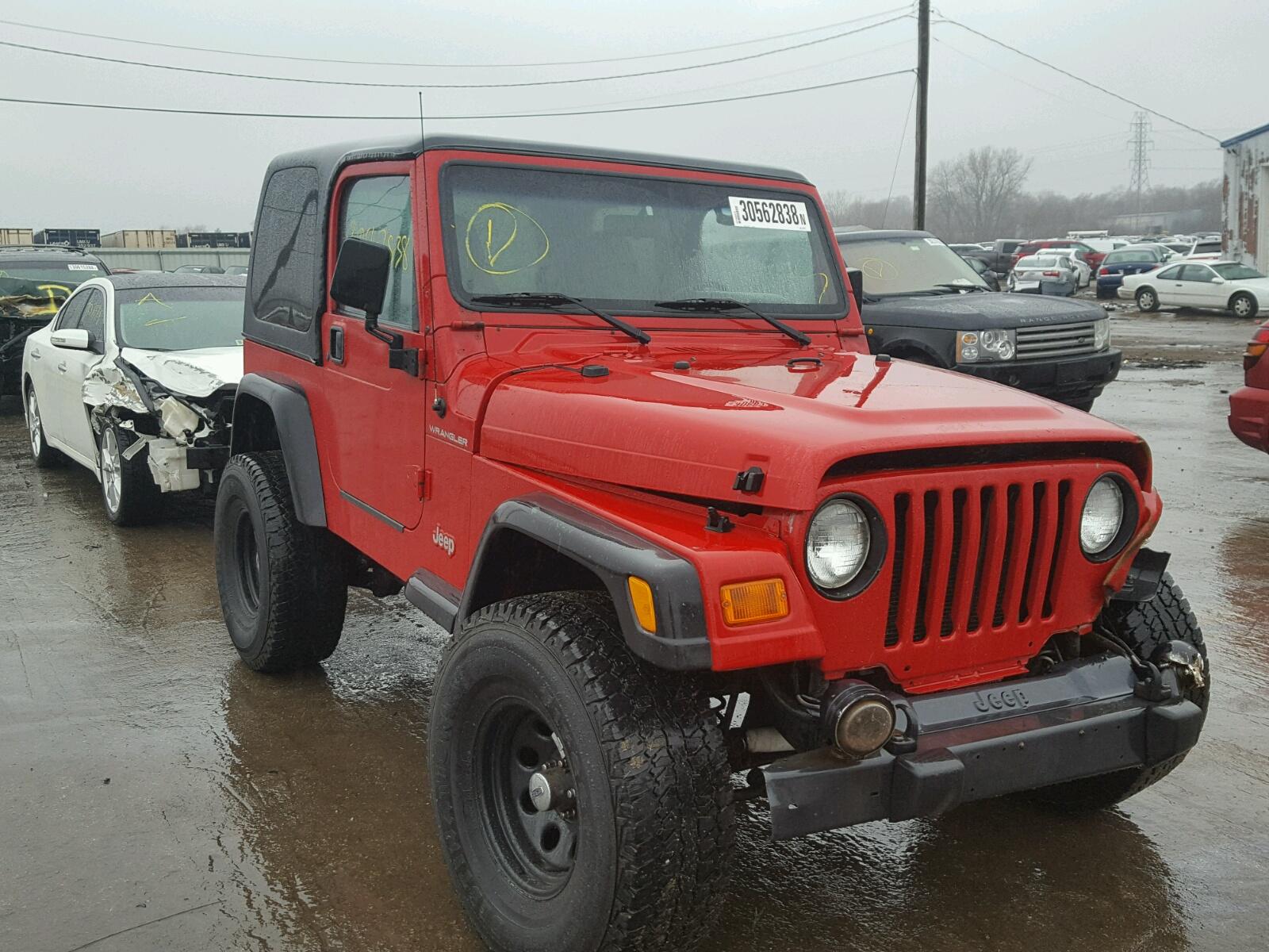 2000 Jeep Wrangler / - Frame Damage Damage - 1J4FA29P6YP733783 (Sold)