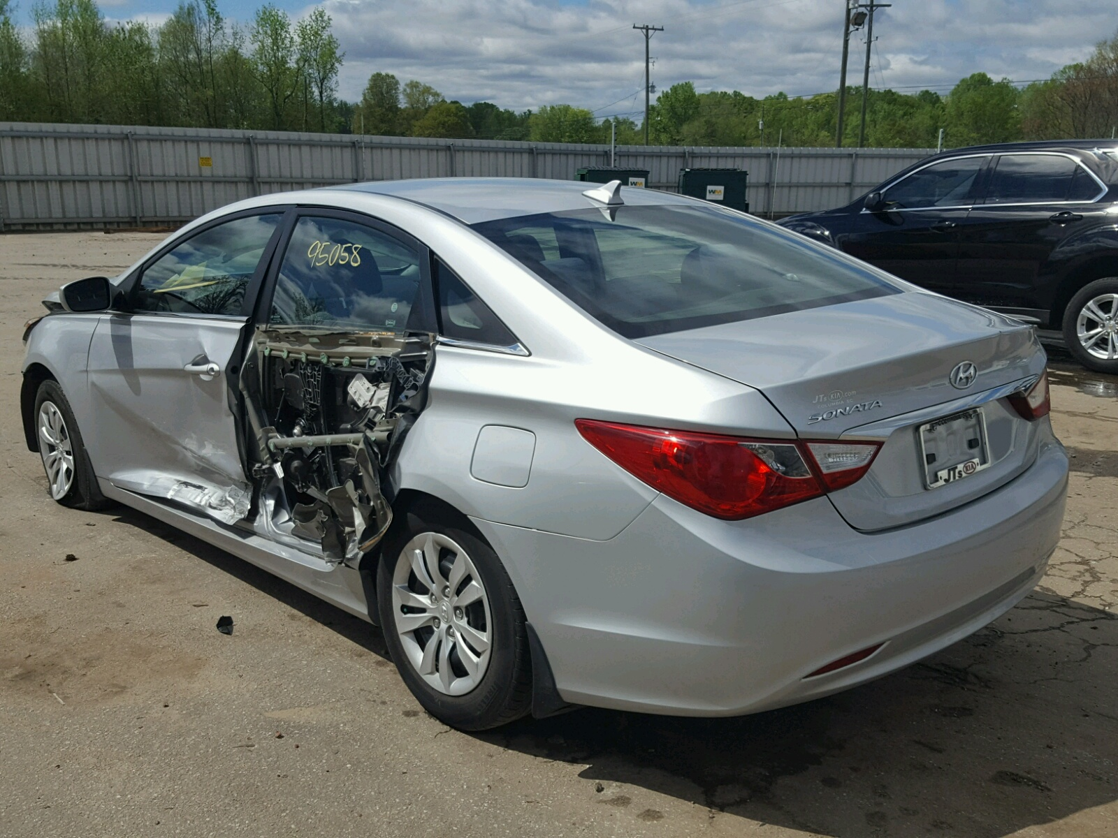 se online title copart sc right cert sonata in hyundai of view auctions carfinder silver salvage on en sale lot auto greer