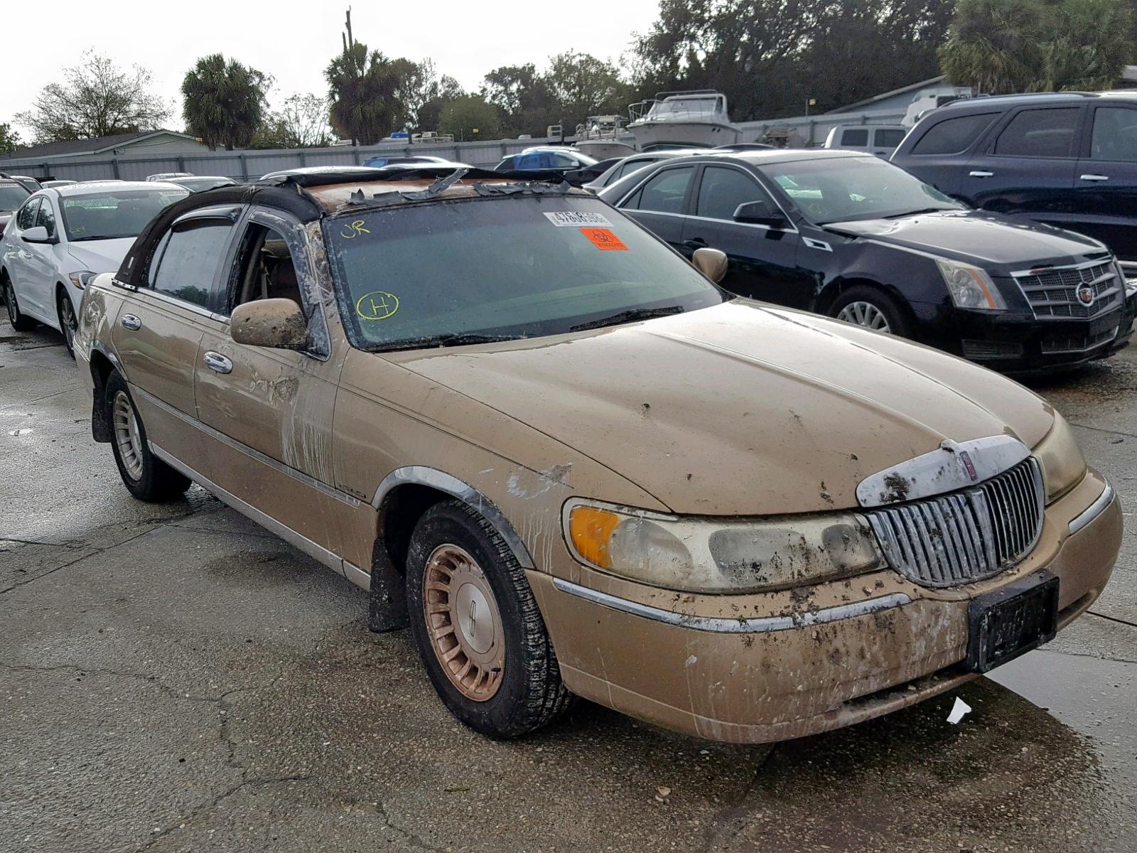 1998 Lincoln Town Car E For Sale At Copart Punta Gorda Fl Lot 47608598